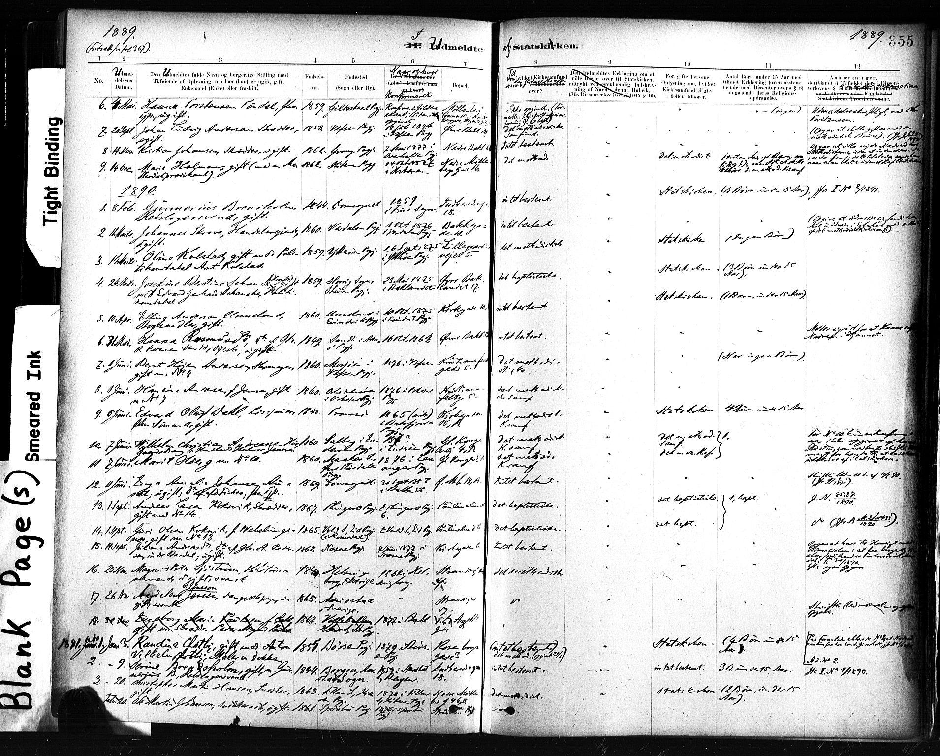 SAT, Ministerialprotokoller, klokkerbøker og fødselsregistre - Sør-Trøndelag, 604/L0189: Ministerialbok nr. 604A10, 1878-1892, s. 355