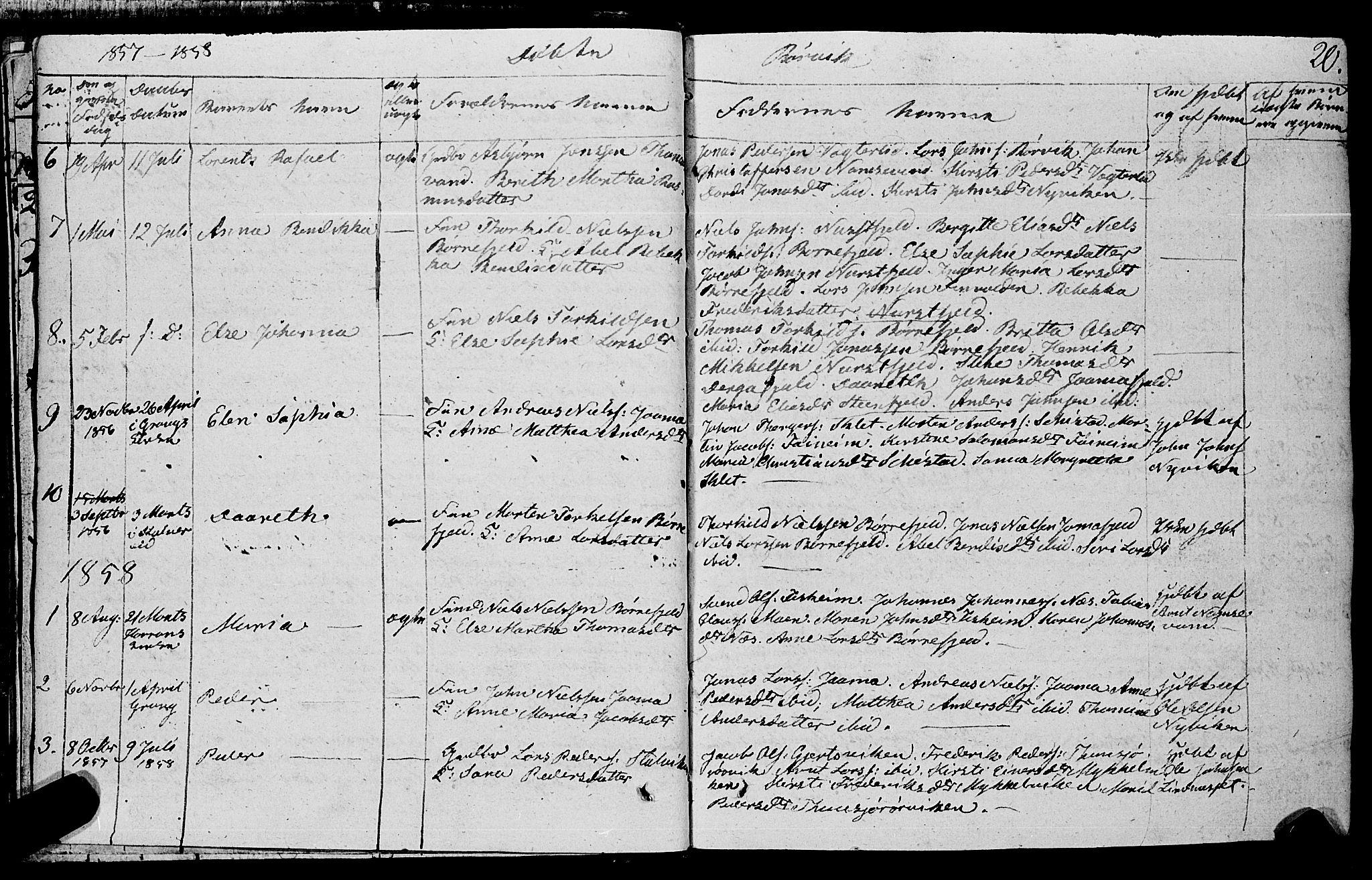 SAT, Ministerialprotokoller, klokkerbøker og fødselsregistre - Nord-Trøndelag, 762/L0538: Ministerialbok nr. 762A02 /1, 1833-1879, s. 20