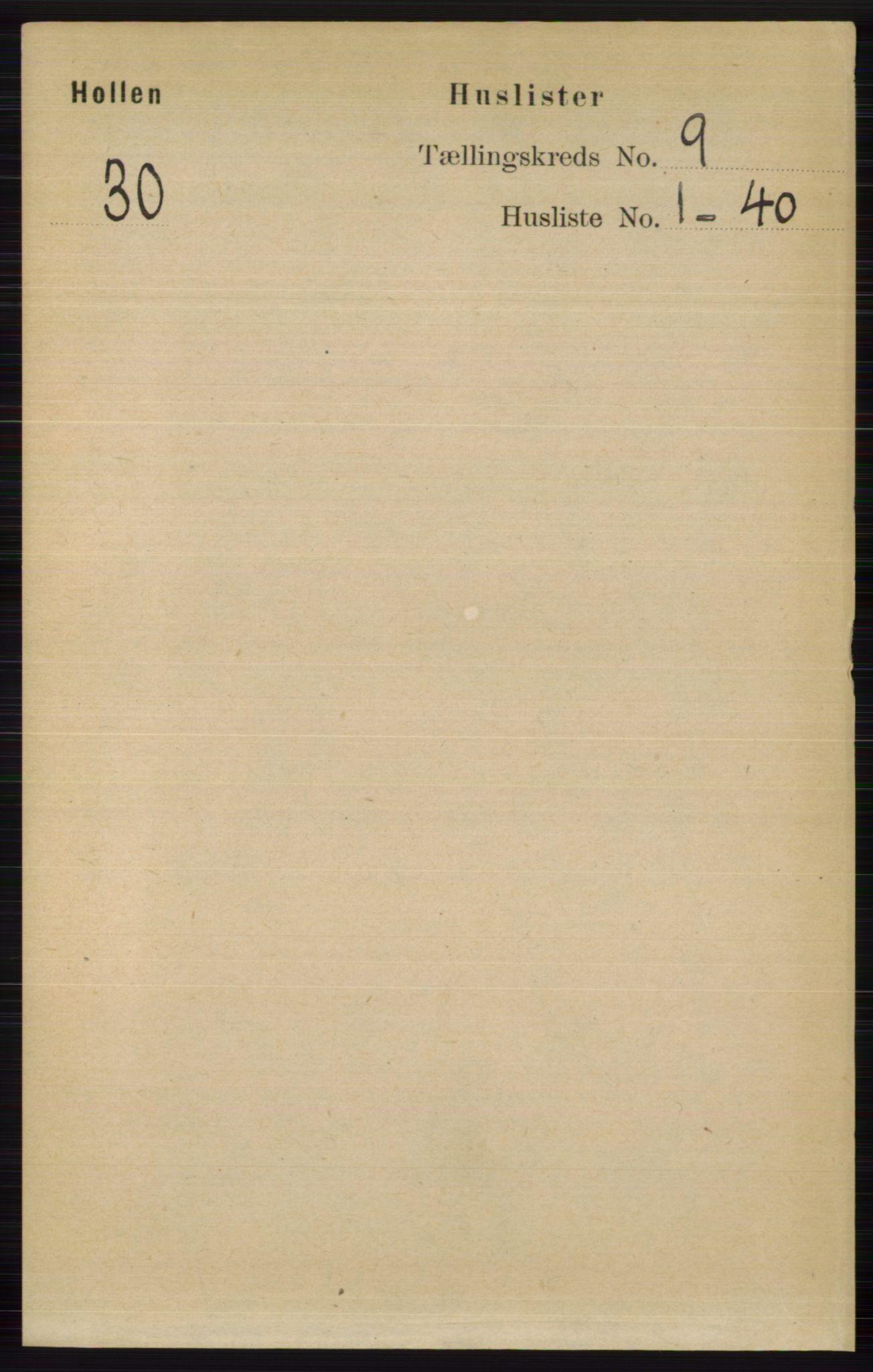 RA, Folketelling 1891 for 0819 Holla herred, 1891, s. 4047