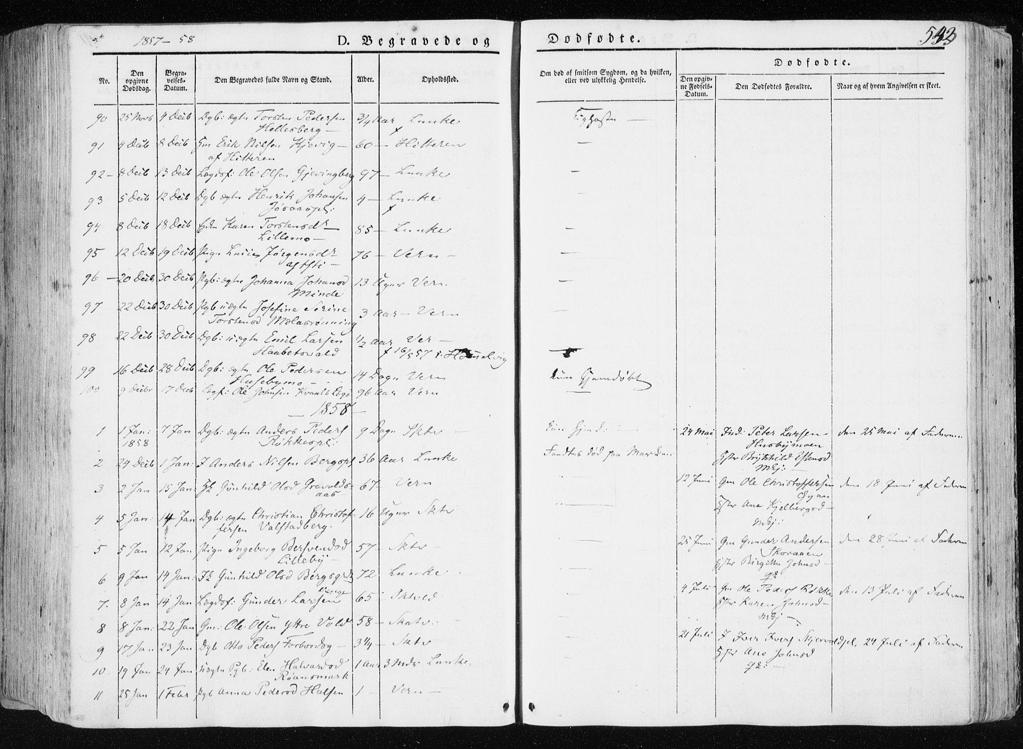 SAT, Ministerialprotokoller, klokkerbøker og fødselsregistre - Nord-Trøndelag, 709/L0074: Ministerialbok nr. 709A14, 1845-1858, s. 533