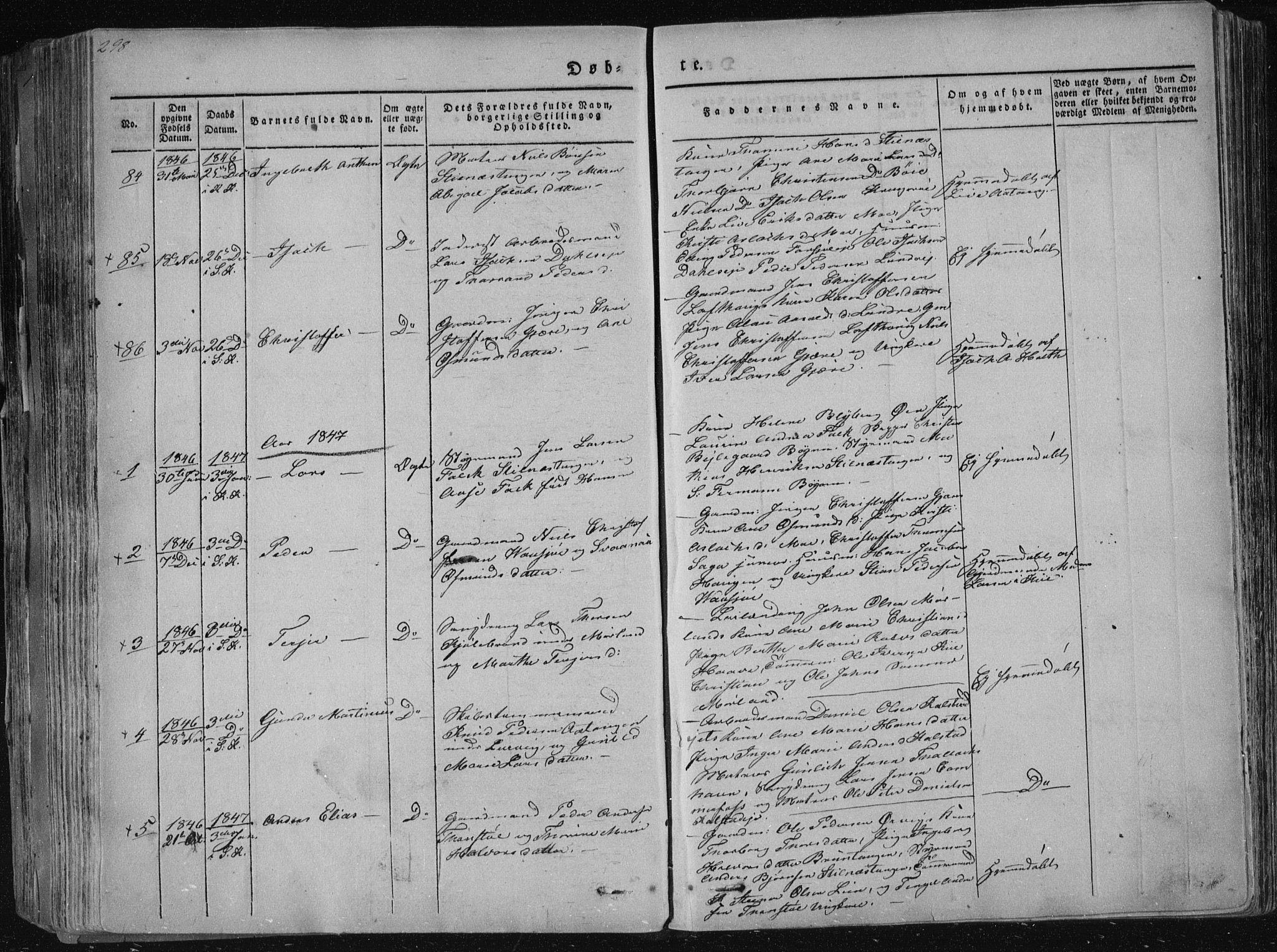 SAKO, Sannidal kirkebøker, F/Fa/L0006: Ministerialbok nr. 6, 1831-1847, s. 298