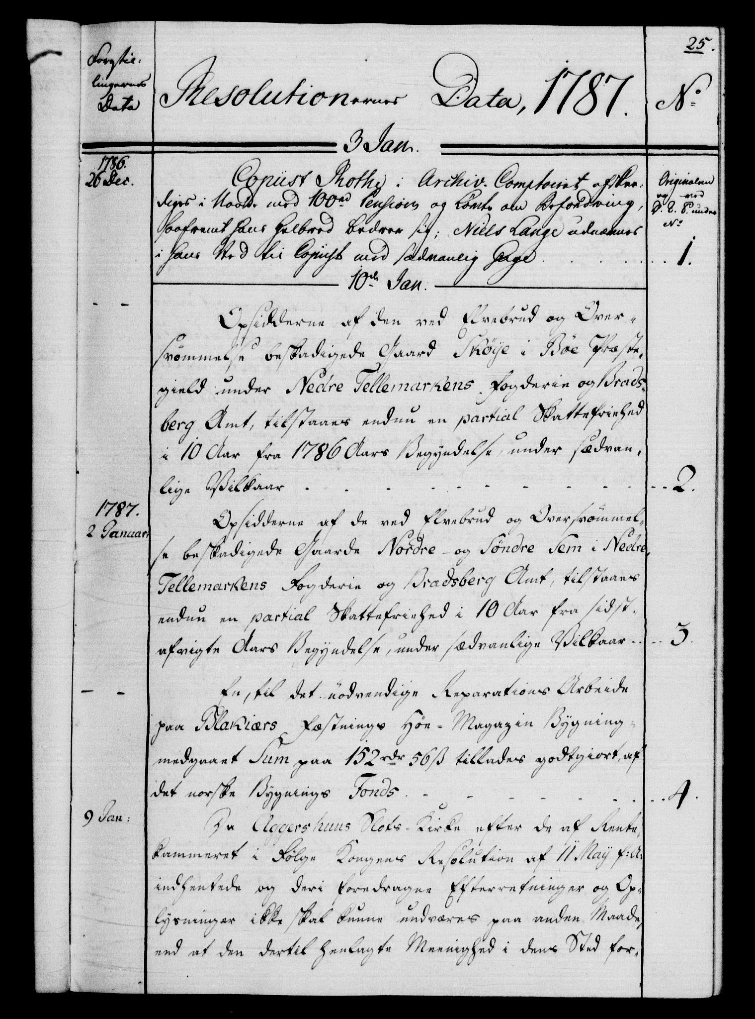 RA, Rentekammeret, Kammerkanselliet, G/Gf/Gfb/L0013: Register til norske relasjons- og resolusjonsprotokoller (merket RK 52.108), 1786-1793, s. 1025a