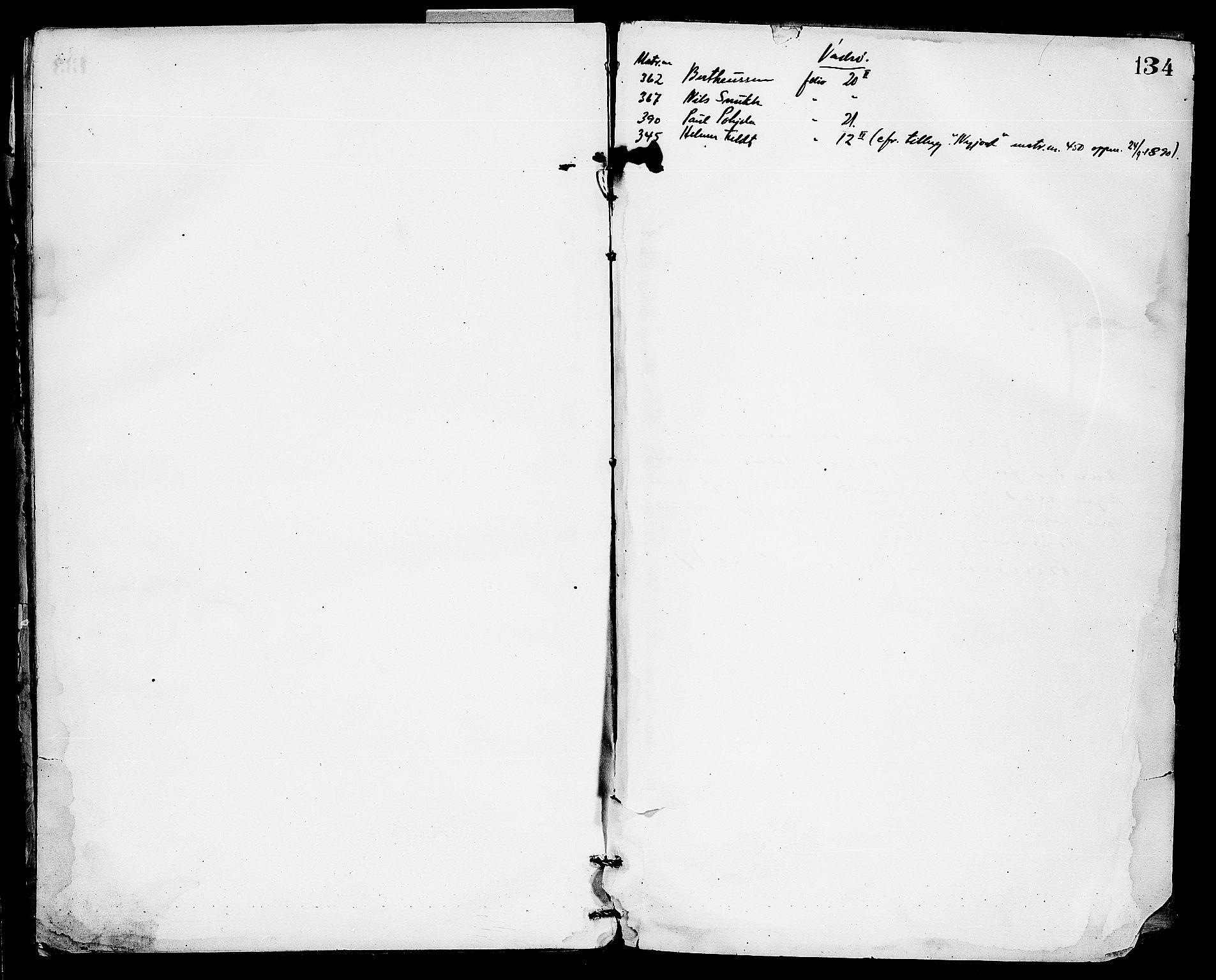 FIEI, Lensmannen i Nord-Varanger (hos Finnmarkseiendommen)*, 1878-1891, s. 133b-134a