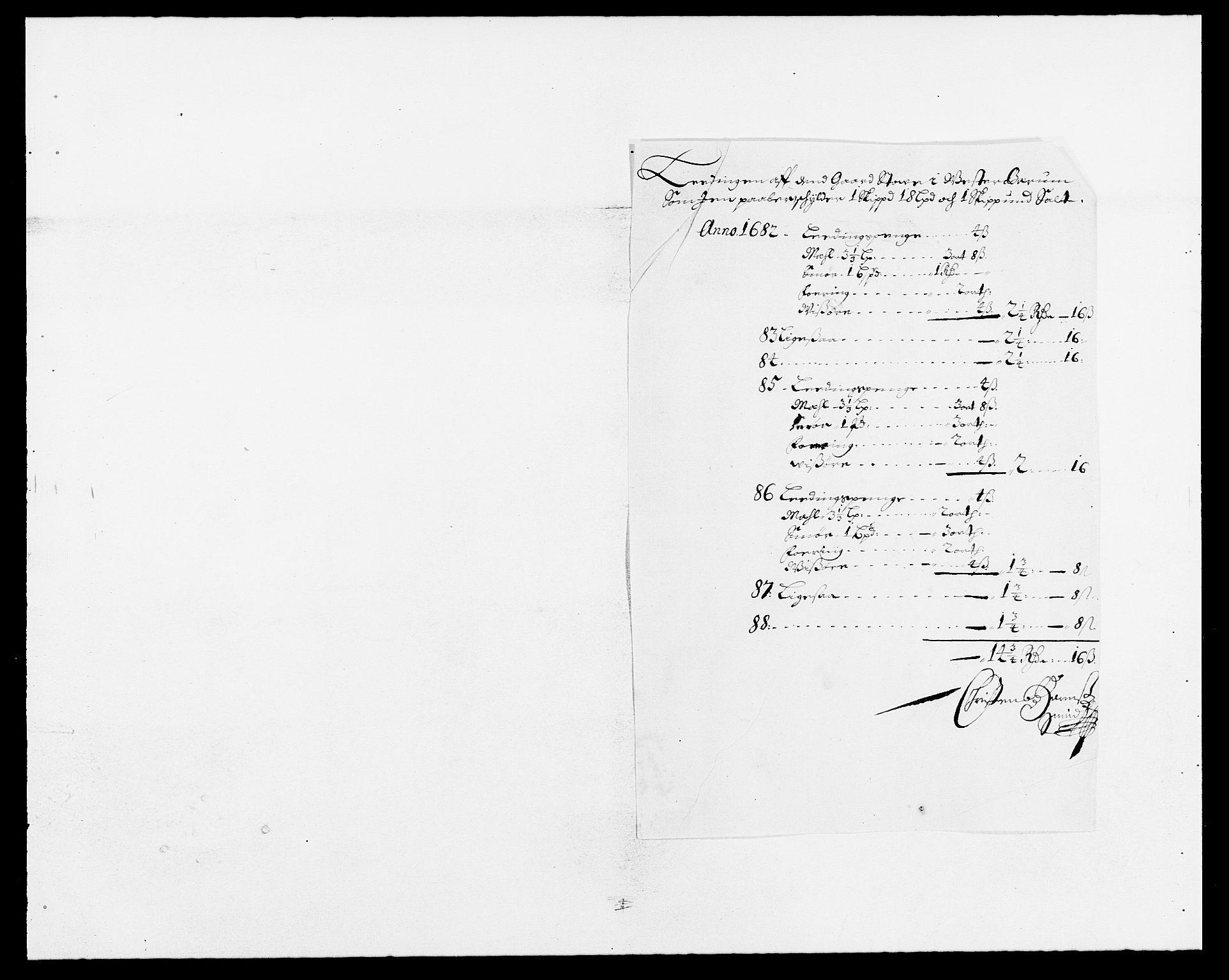 RA, Rentekammeret inntil 1814, Reviderte regnskaper, Fogderegnskap, R08/L0423: Fogderegnskap Aker, 1687-1689, s. 129