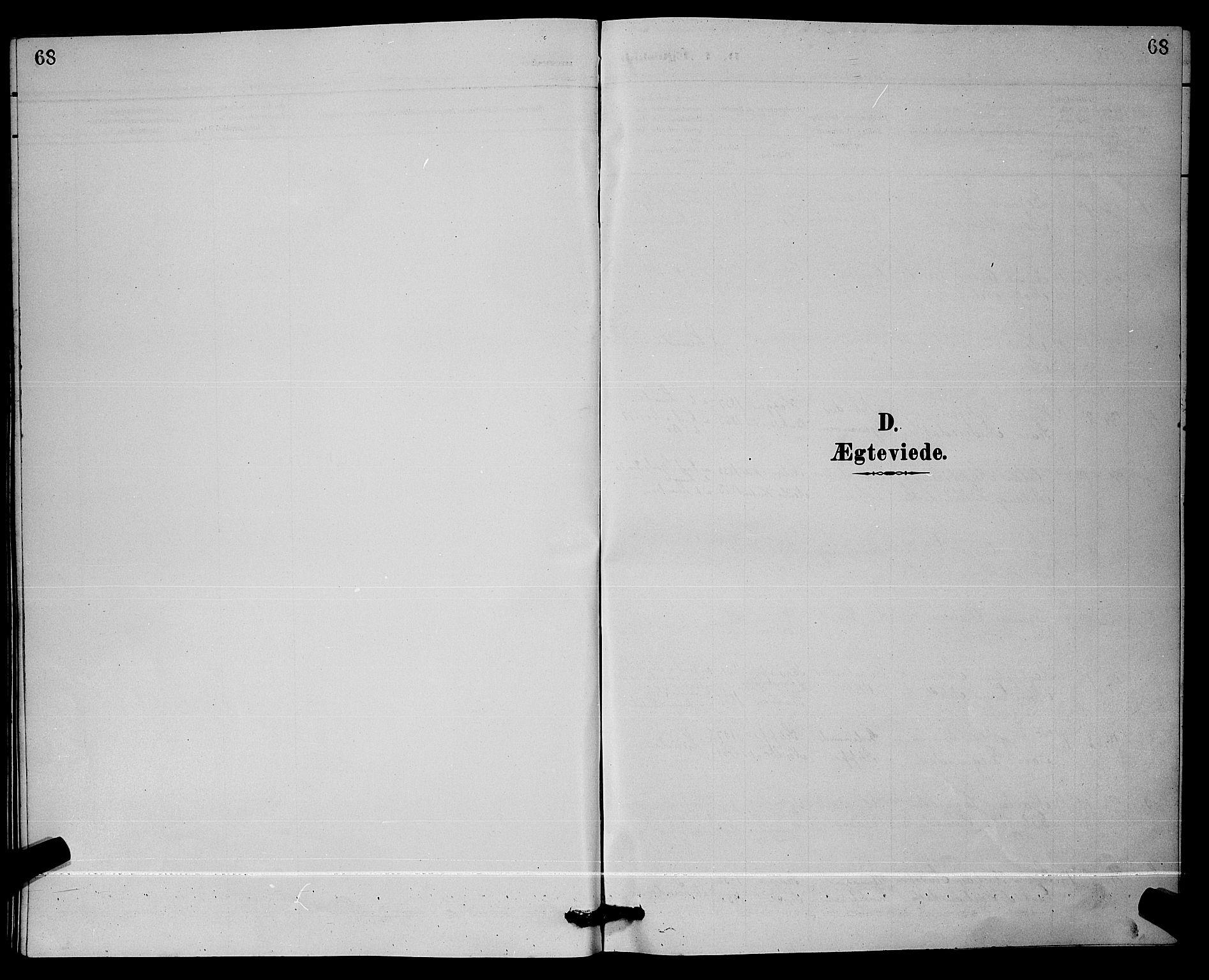 SAKO, Lunde kirkebøker, G/Ga/L0002: Klokkerbok nr. I 2, 1887-1896, s. 68
