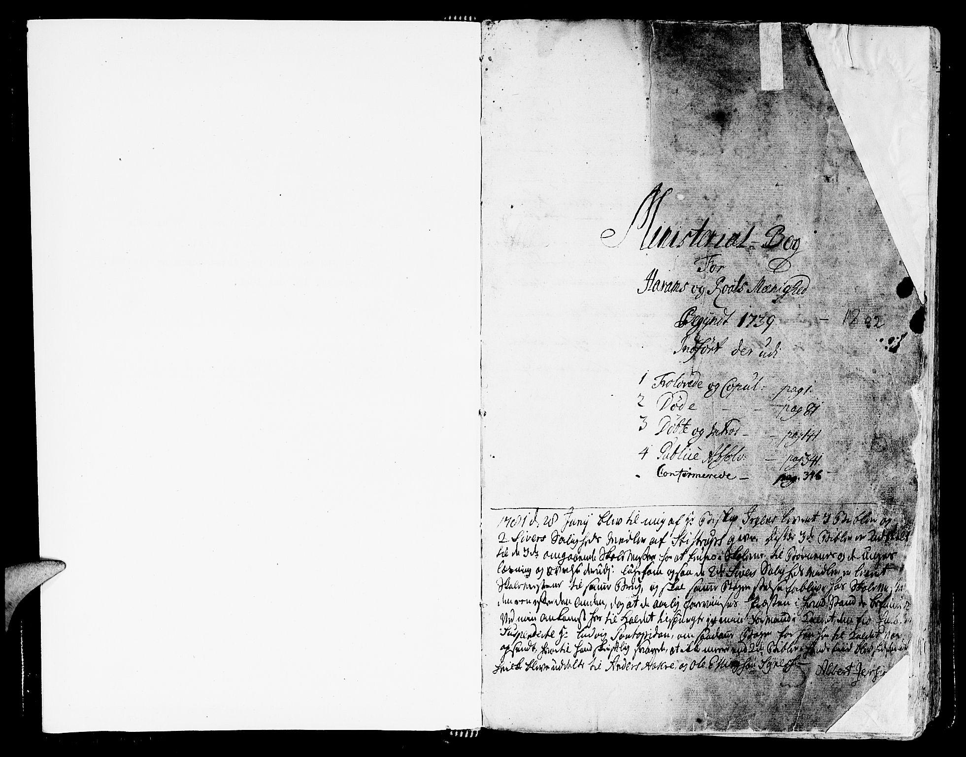 SAT, Ministerialprotokoller, klokkerbøker og fødselsregistre - Møre og Romsdal, 536/L0493: Ministerialbok nr. 536A02, 1739-1802