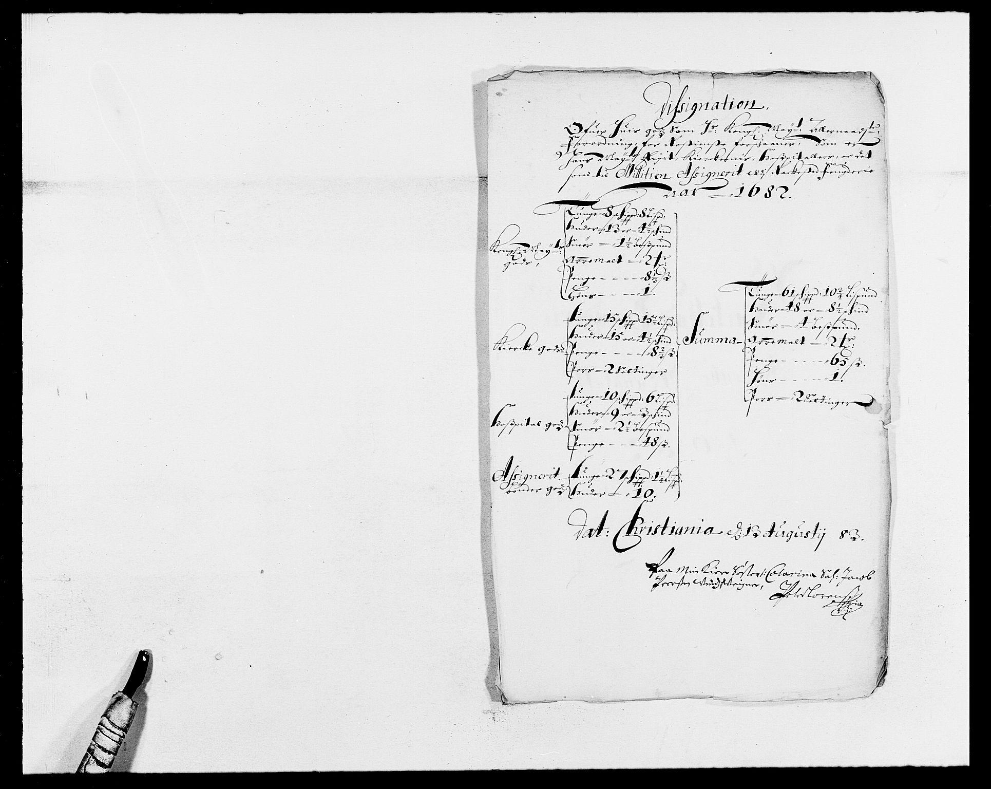 RA, Rentekammeret inntil 1814, Reviderte regnskaper, Fogderegnskap, R05/L0273: Fogderegnskap Rakkestad, 1682, s. 165