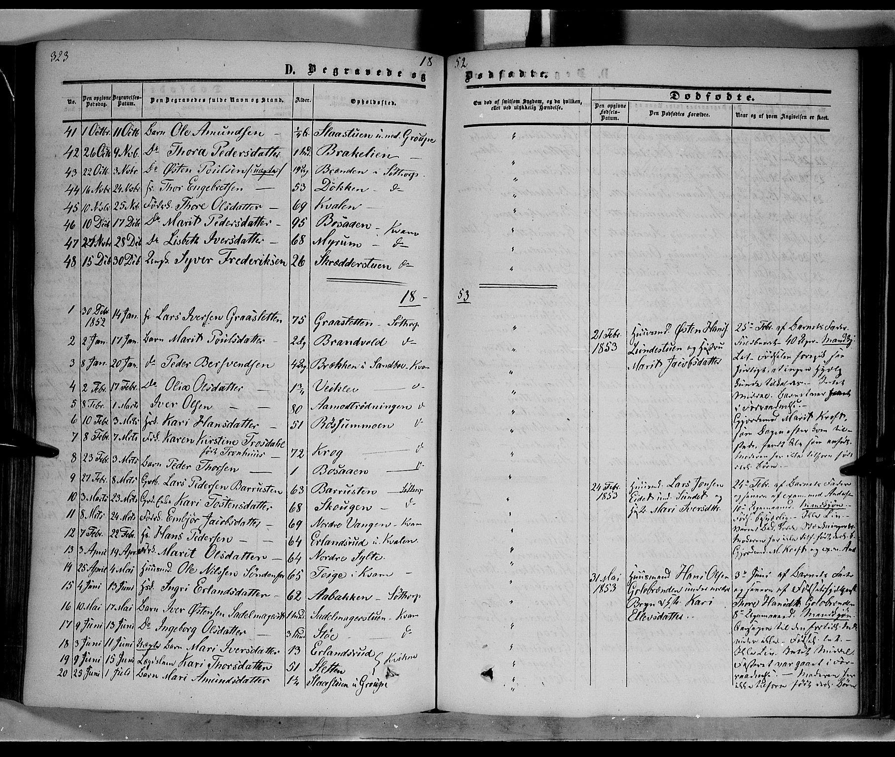 SAH, Nord-Fron prestekontor, Ministerialbok nr. 1, 1851-1864, s. 323