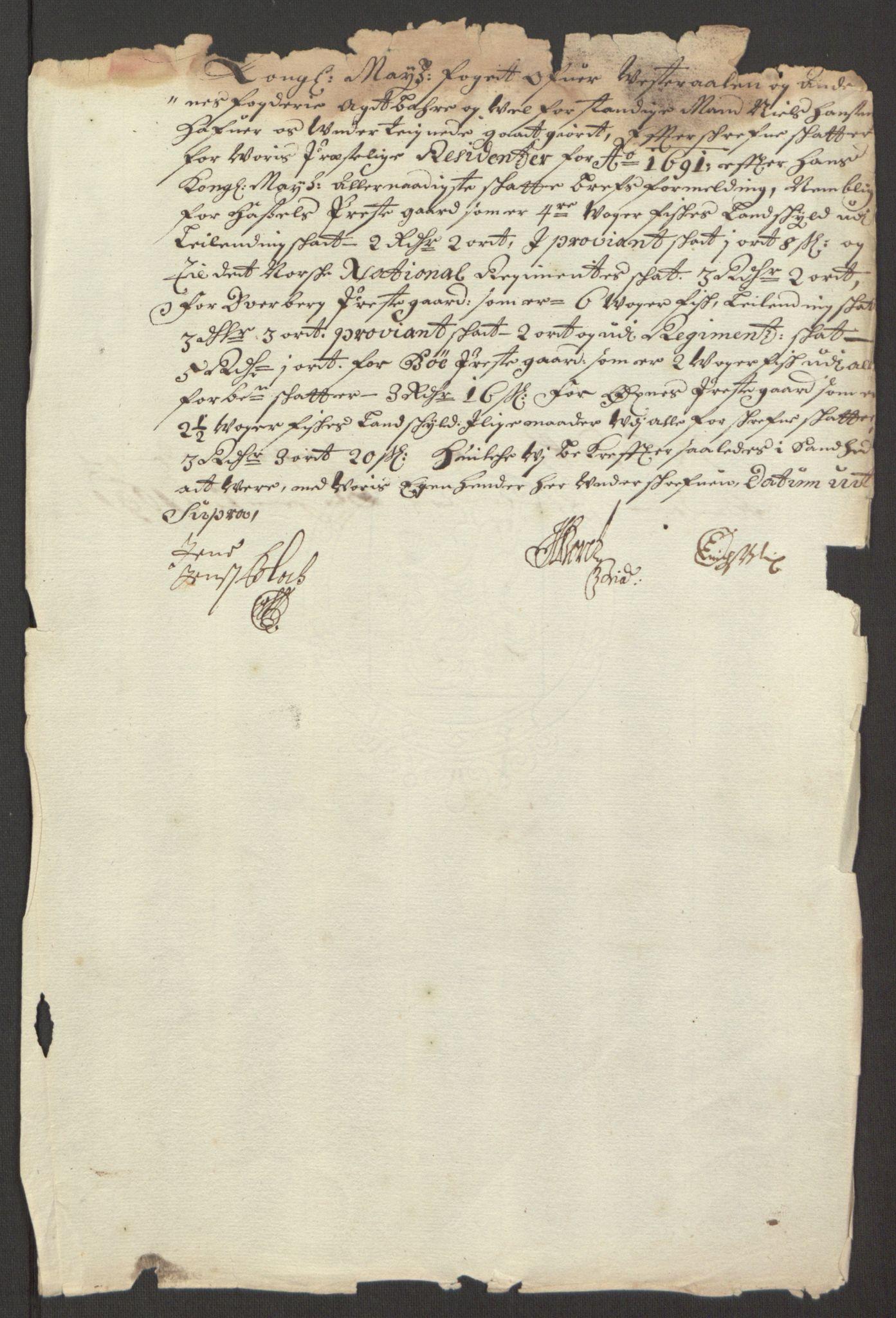 RA, Rentekammeret inntil 1814, Reviderte regnskaper, Fogderegnskap, R67/L4676: Fogderegnskap Vesterålen, Andenes og Lofoten, 1691-1693, s. 78