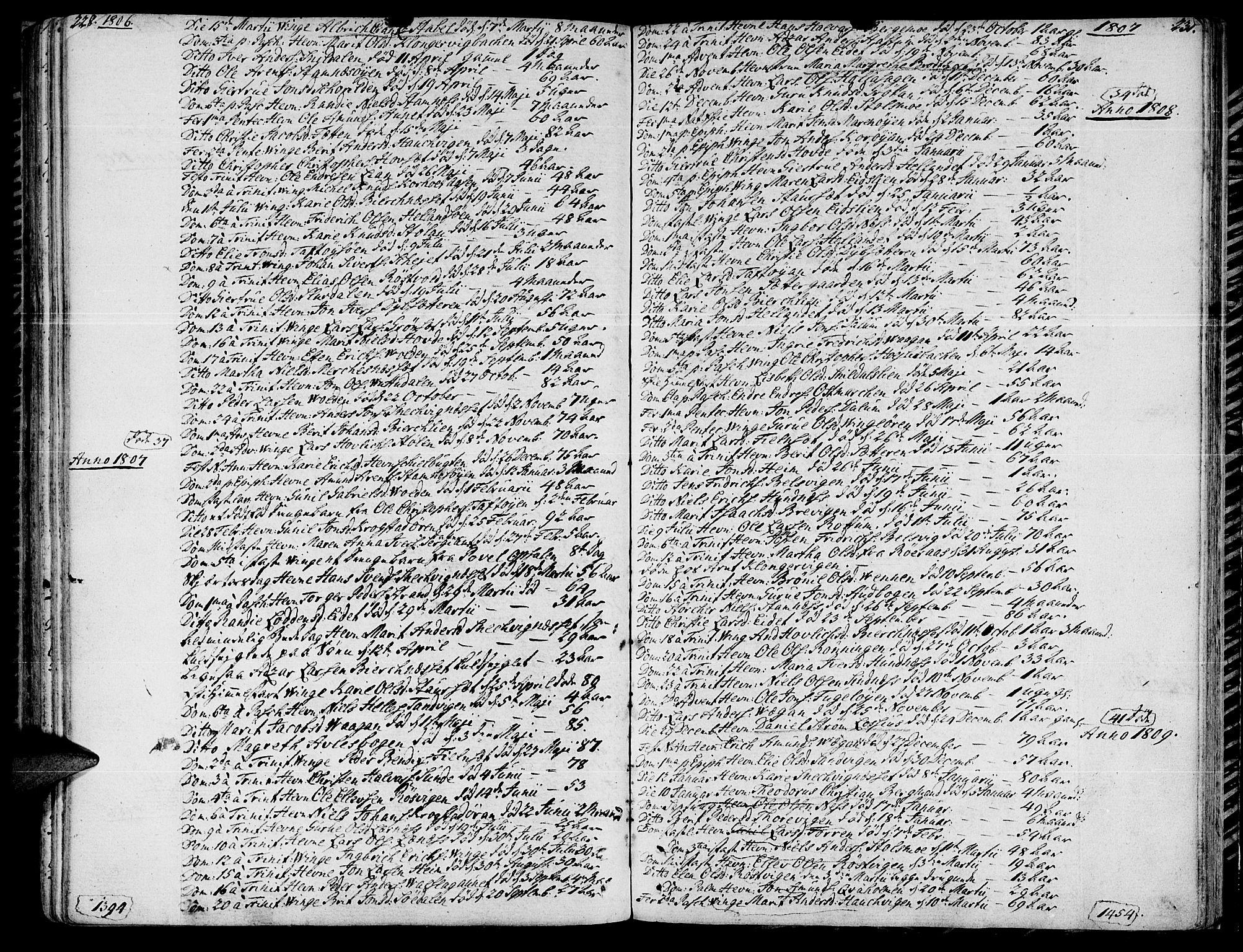 SAT, Ministerialprotokoller, klokkerbøker og fødselsregistre - Sør-Trøndelag, 630/L0490: Ministerialbok nr. 630A03, 1795-1818, s. 230-231