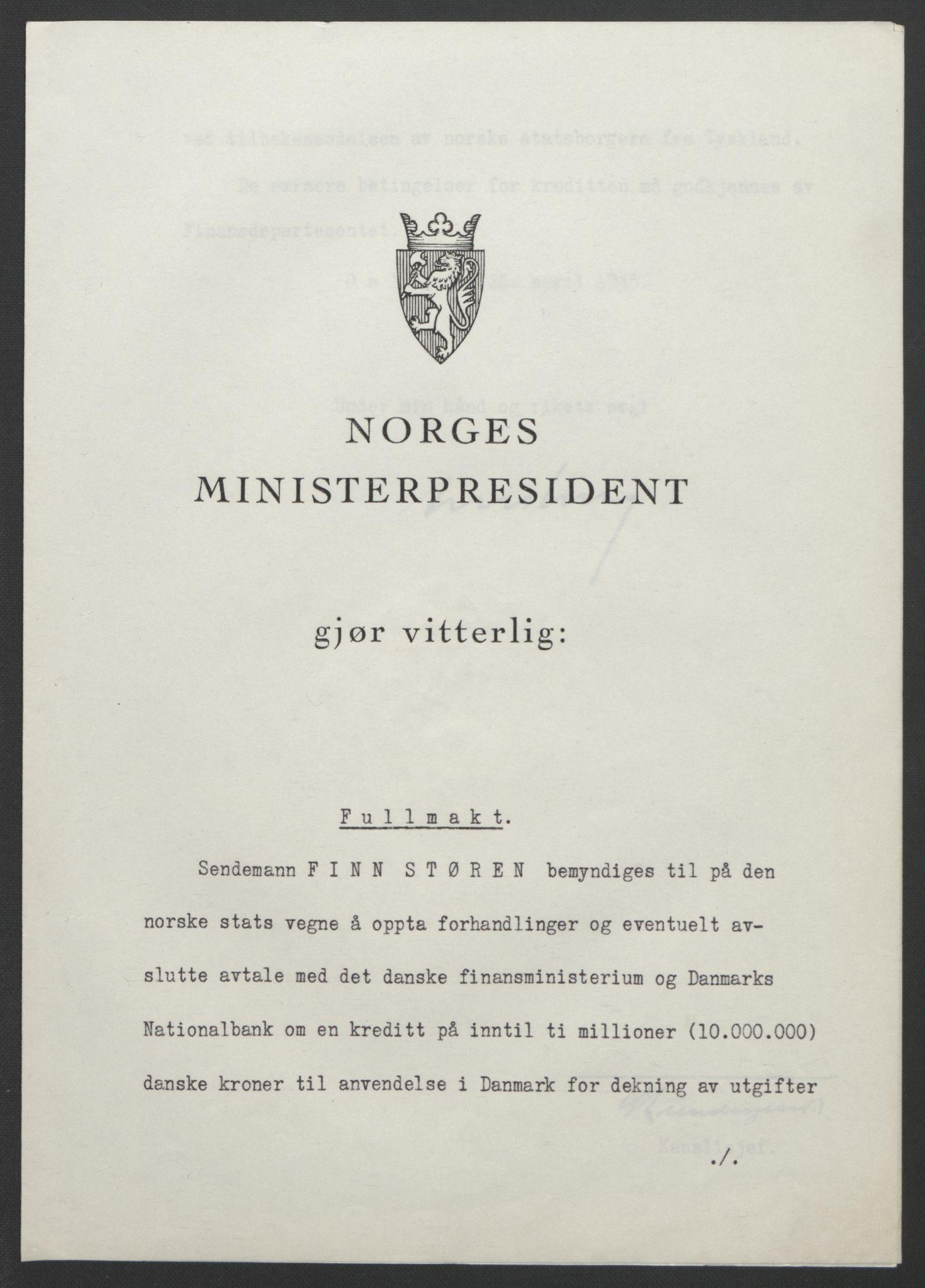 RA, NS-administrasjonen 1940-1945 (Statsrådsekretariatet, de kommisariske statsråder mm), D/Db/L0111: Saker fra krigsårene, 1940-1945, s. 545