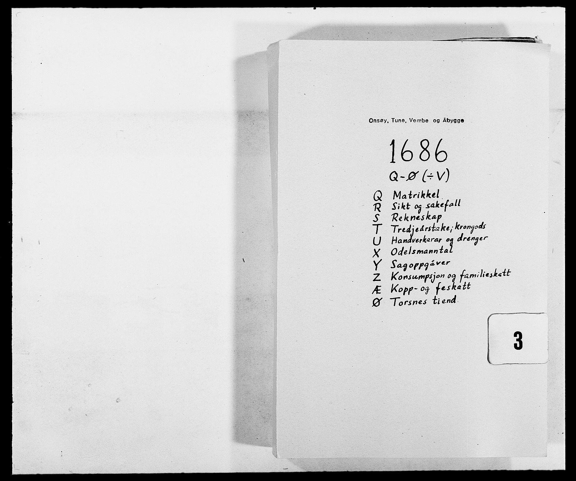RA, Rentekammeret inntil 1814, Reviderte regnskaper, Fogderegnskap, R03/L0116: Fogderegnskap Onsøy, Tune, Veme og Åbygge fogderi, 1684-1689, s. 147