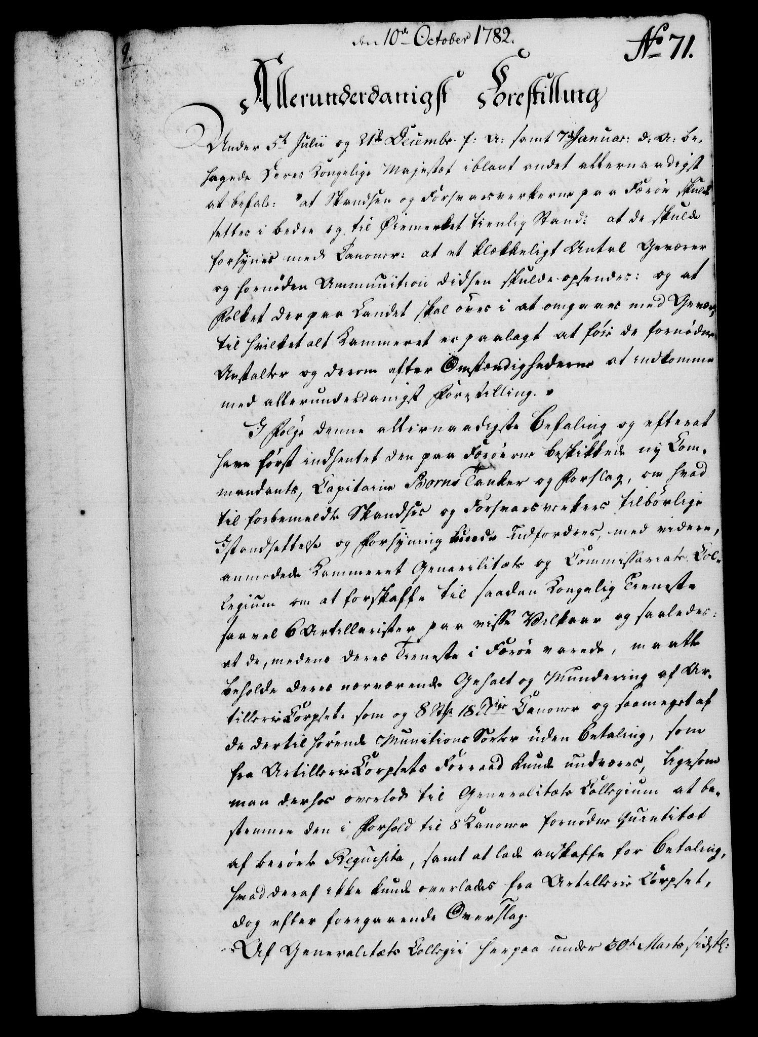 RA, Rentekammeret, Kammerkanselliet, G/Gf/Gfa/L0064: Norsk relasjons- og resolusjonsprotokoll (merket RK 52.64), 1782, s. 557