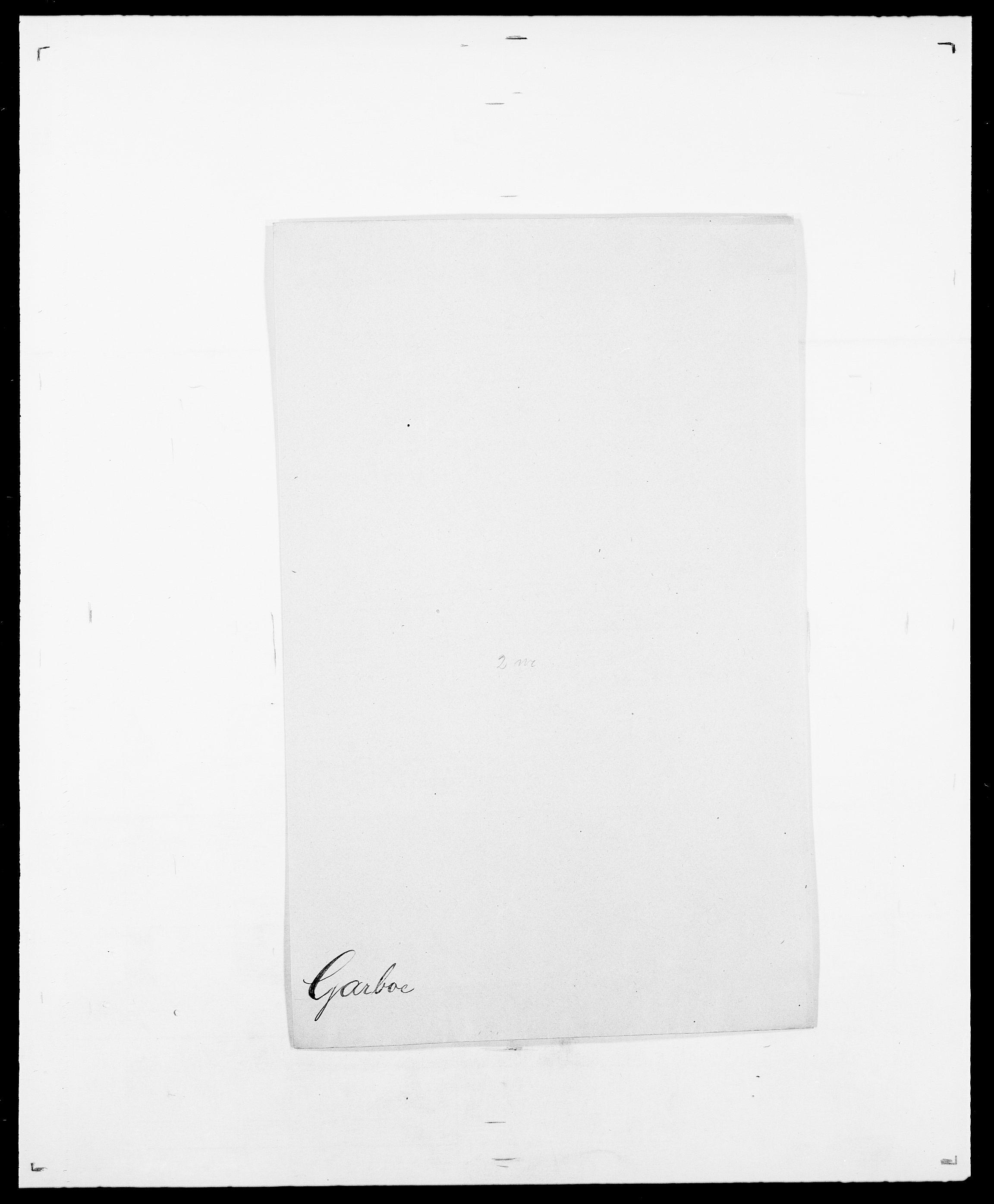 SAO, Delgobe, Charles Antoine - samling, D/Da/L0013: Forbos - Geving, s. 500