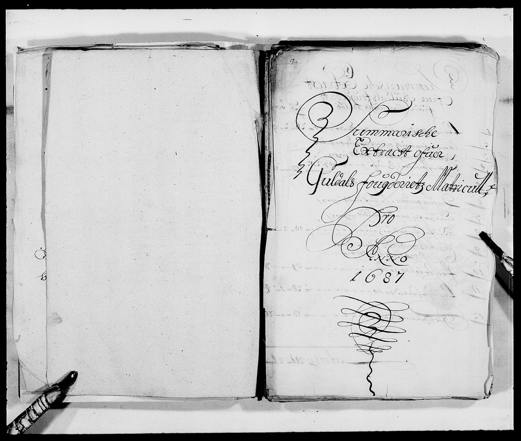 RA, Rentekammeret inntil 1814, Reviderte regnskaper, Fogderegnskap, R59/L3939: Fogderegnskap Gauldal, 1687-1688, s. 5