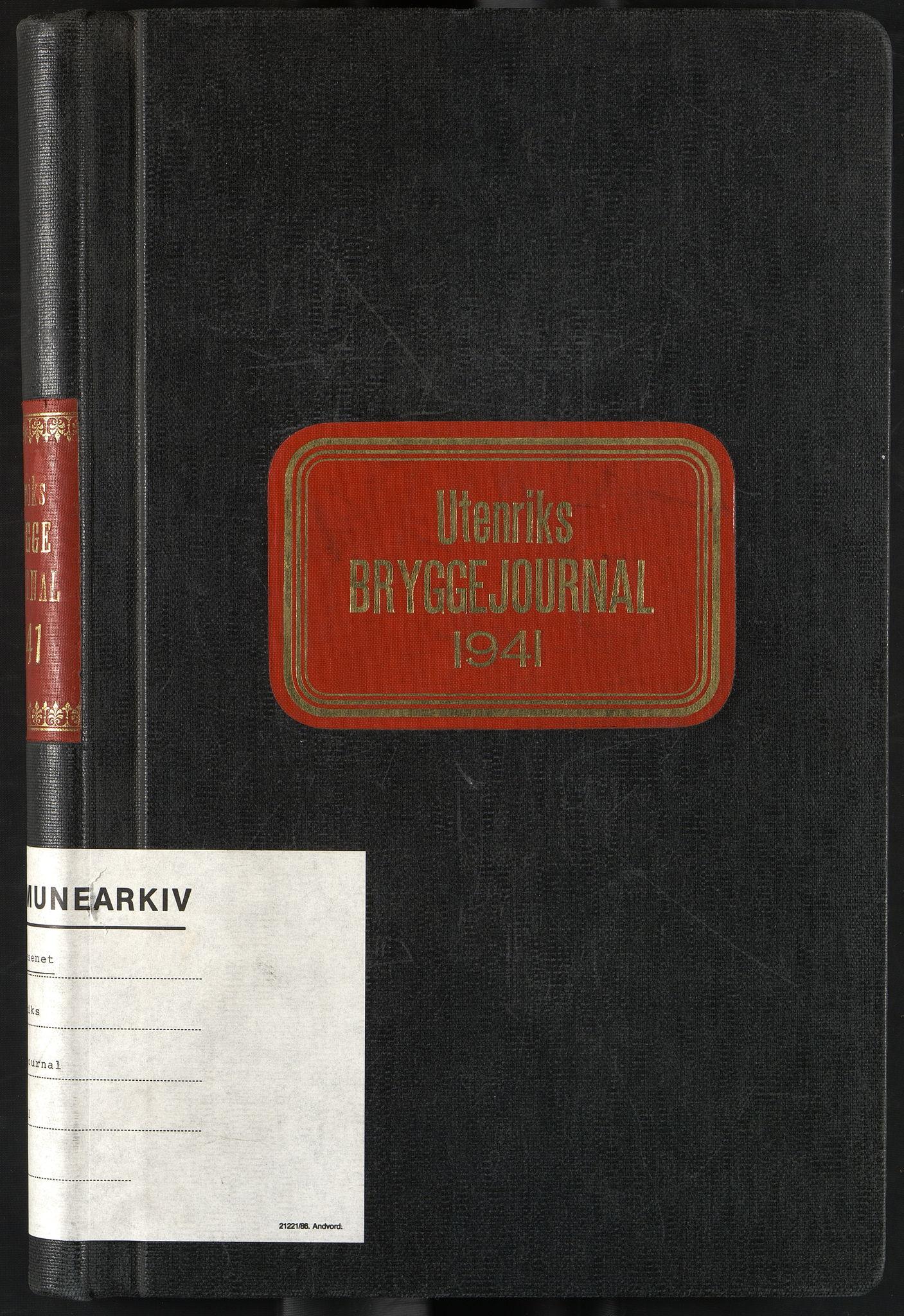 OBA, Oslo havnevesen, Fa/Fac/L0055: Utenriks bryggejournal, 1941