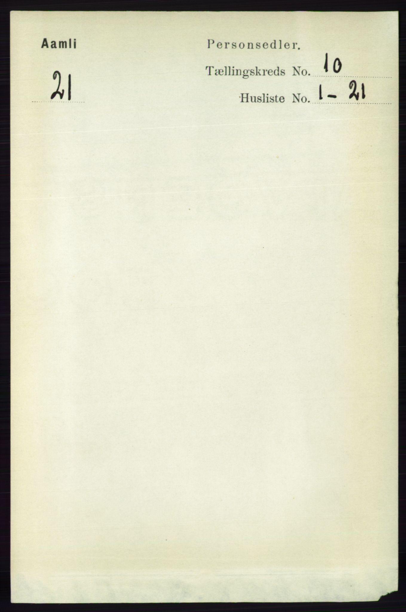 RA, Folketelling 1891 for 0929 Åmli herred, 1891, s. 1668