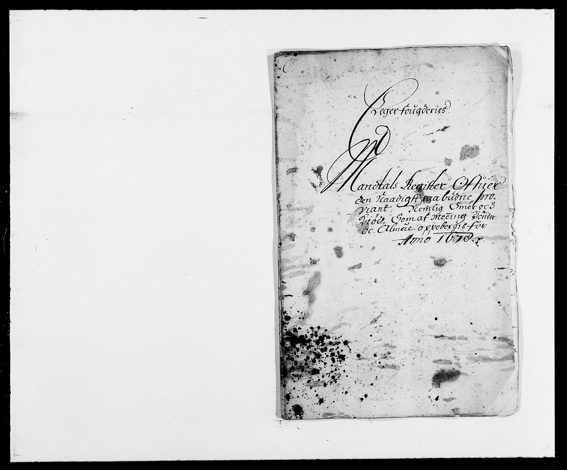 RA, Rentekammeret inntil 1814, Reviderte regnskaper, Fogderegnskap, R26/L1683: Fogderegnskap Eiker, 1678, s. 34