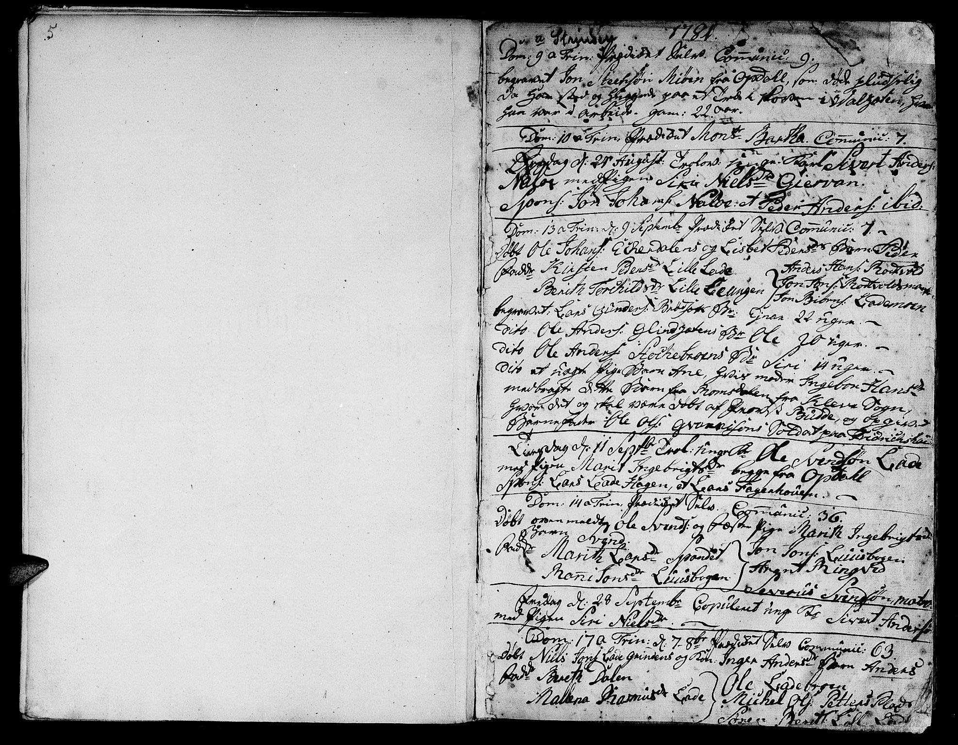 SAT, Ministerialprotokoller, klokkerbøker og fødselsregistre - Sør-Trøndelag, 606/L0280: Ministerialbok nr. 606A02 /1, 1781-1817, s. 5-6