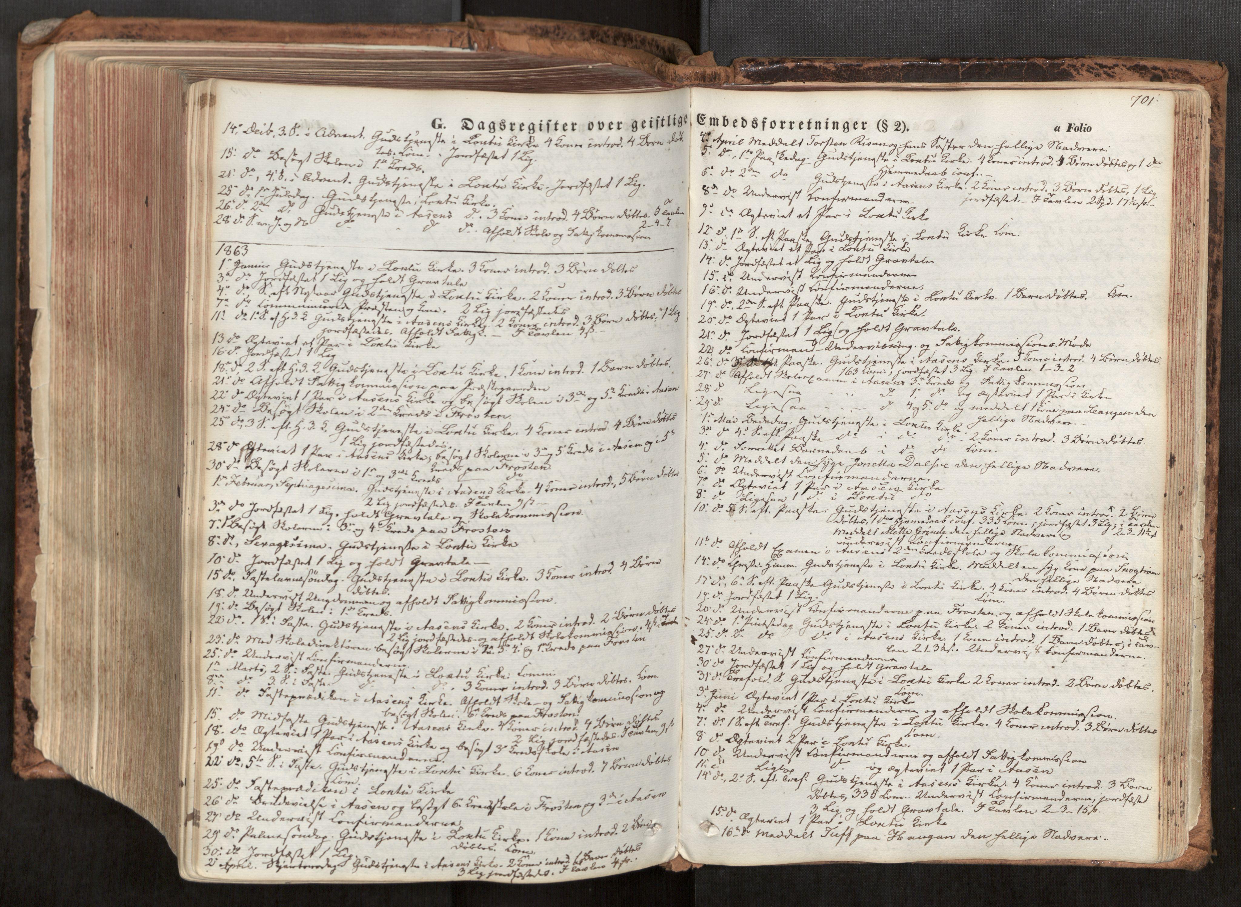 SAT, Ministerialprotokoller, klokkerbøker og fødselsregistre - Nord-Trøndelag, 713/L0116: Ministerialbok nr. 713A07, 1850-1877, s. 701
