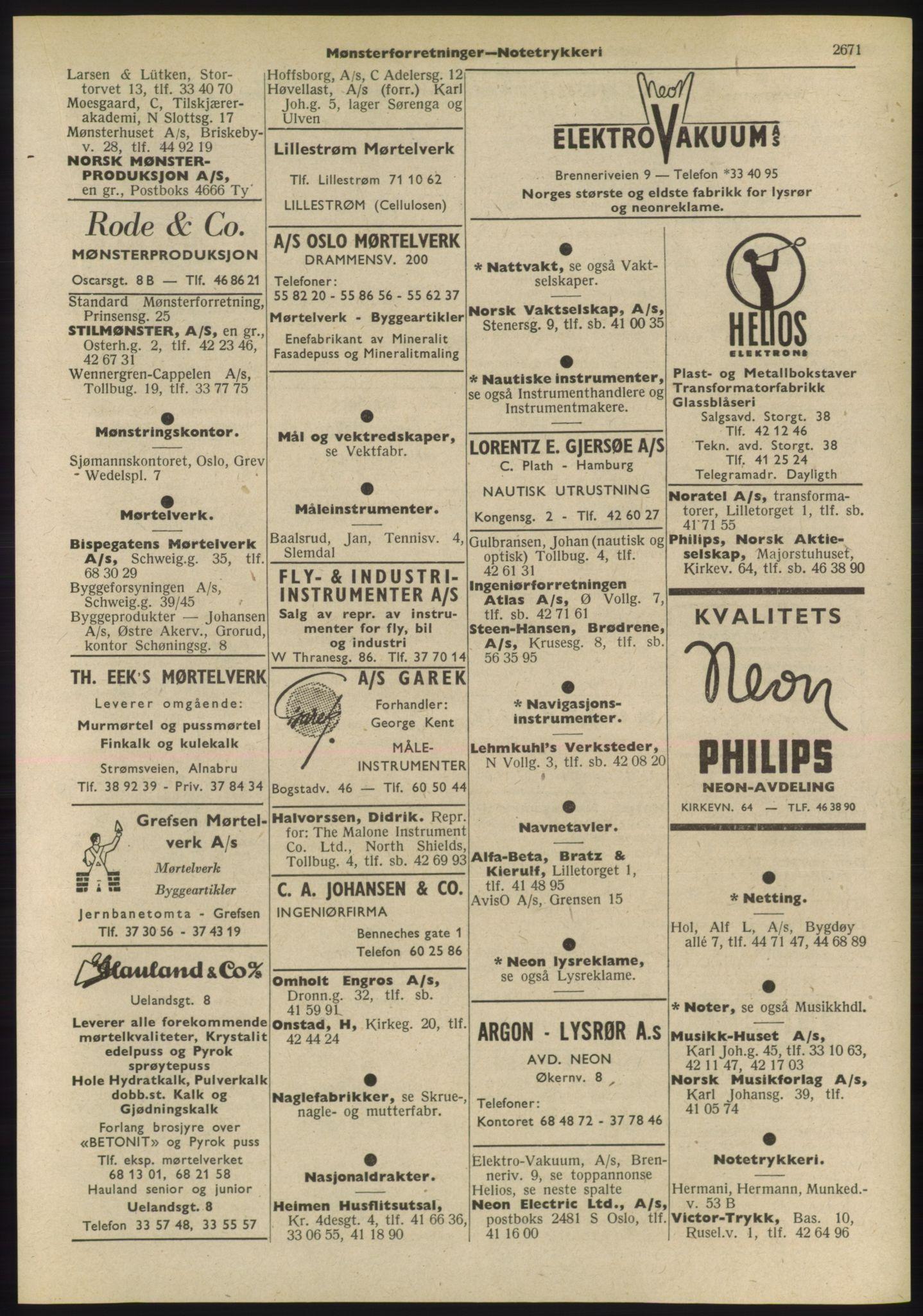 PUBL, Kristiania/Oslo adressebok, 1955, s. 2671