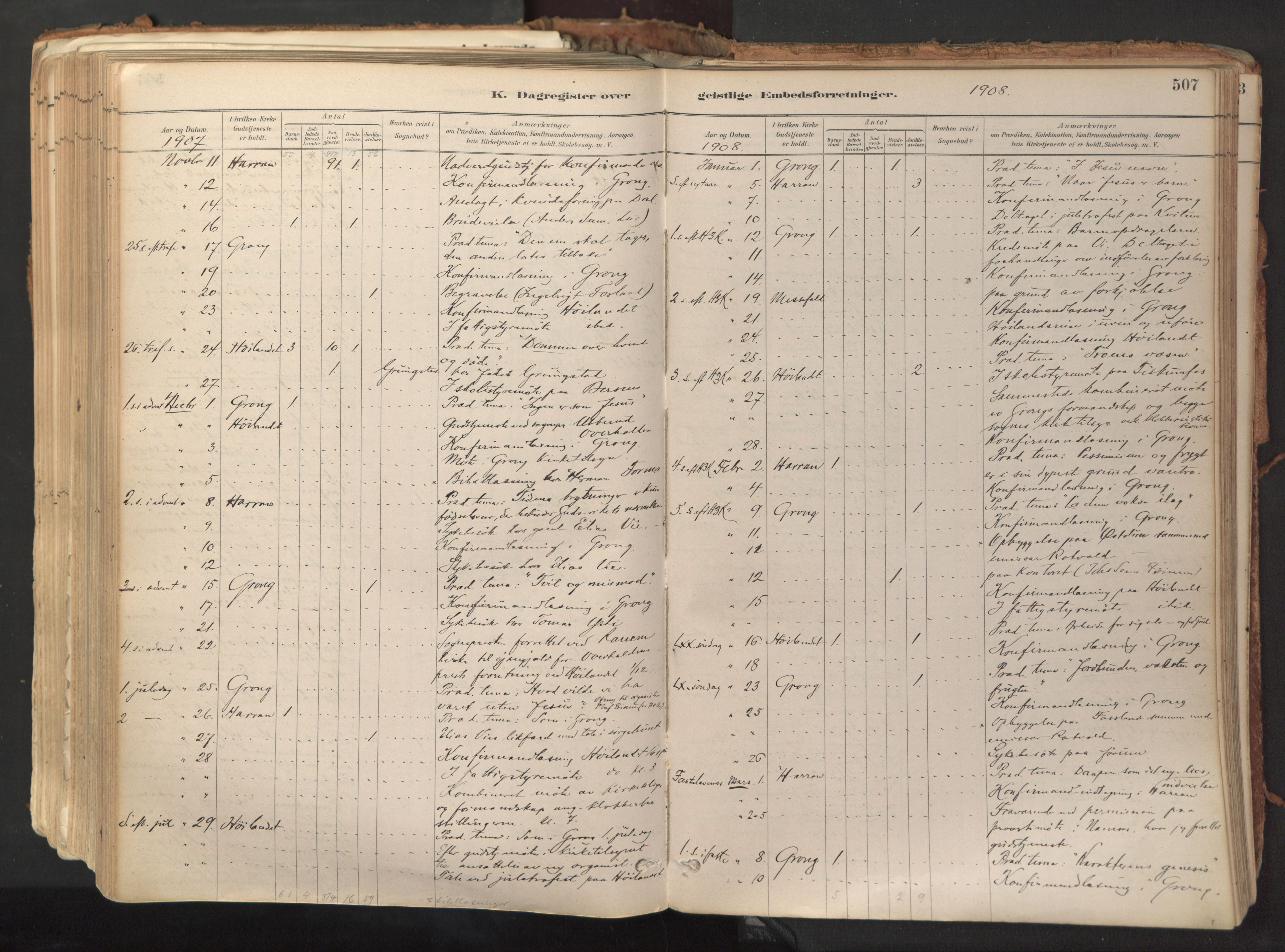 SAT, Ministerialprotokoller, klokkerbøker og fødselsregistre - Nord-Trøndelag, 758/L0519: Ministerialbok nr. 758A04, 1880-1926, s. 507