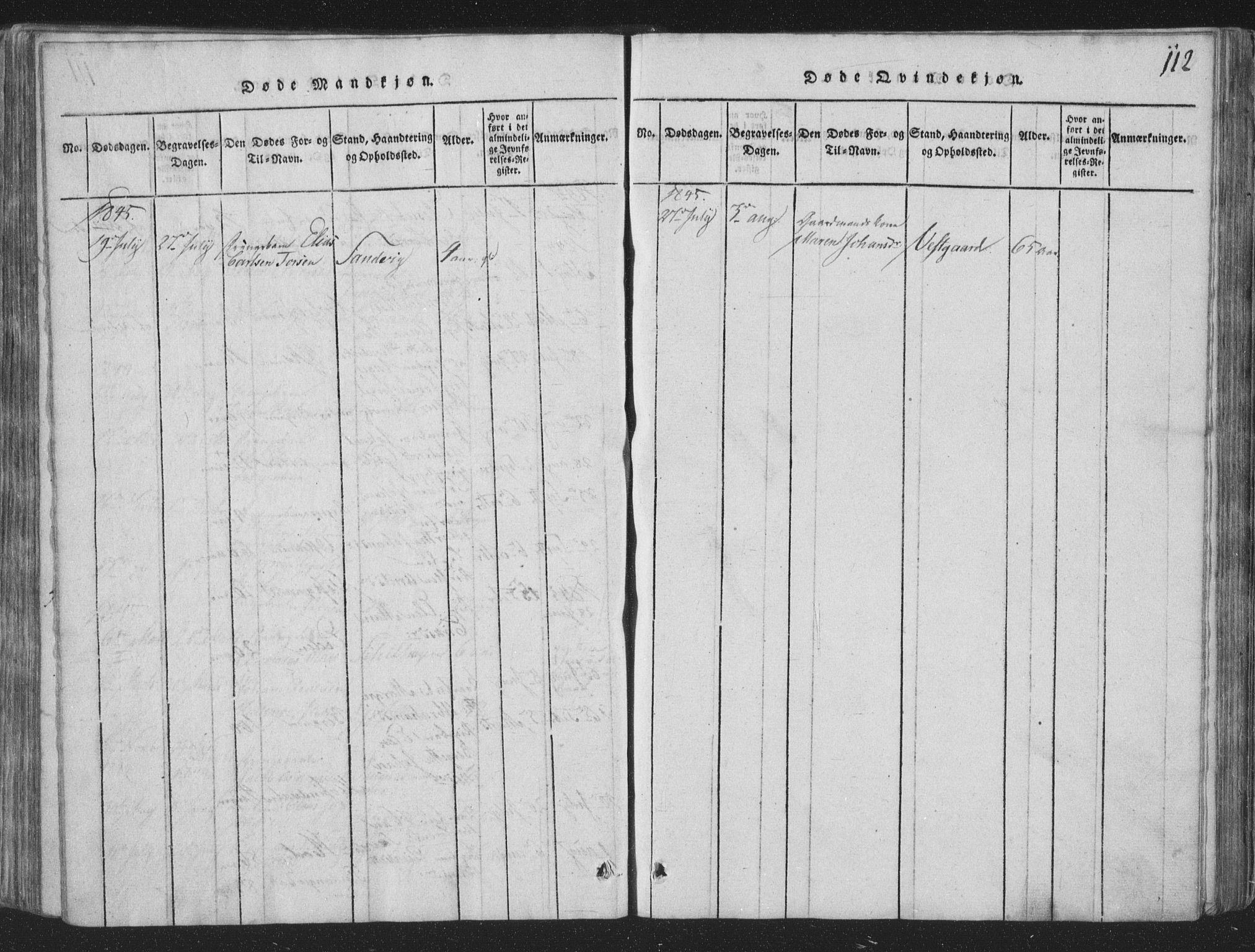 SAT, Ministerialprotokoller, klokkerbøker og fødselsregistre - Nord-Trøndelag, 773/L0613: Ministerialbok nr. 773A04, 1815-1845, s. 112