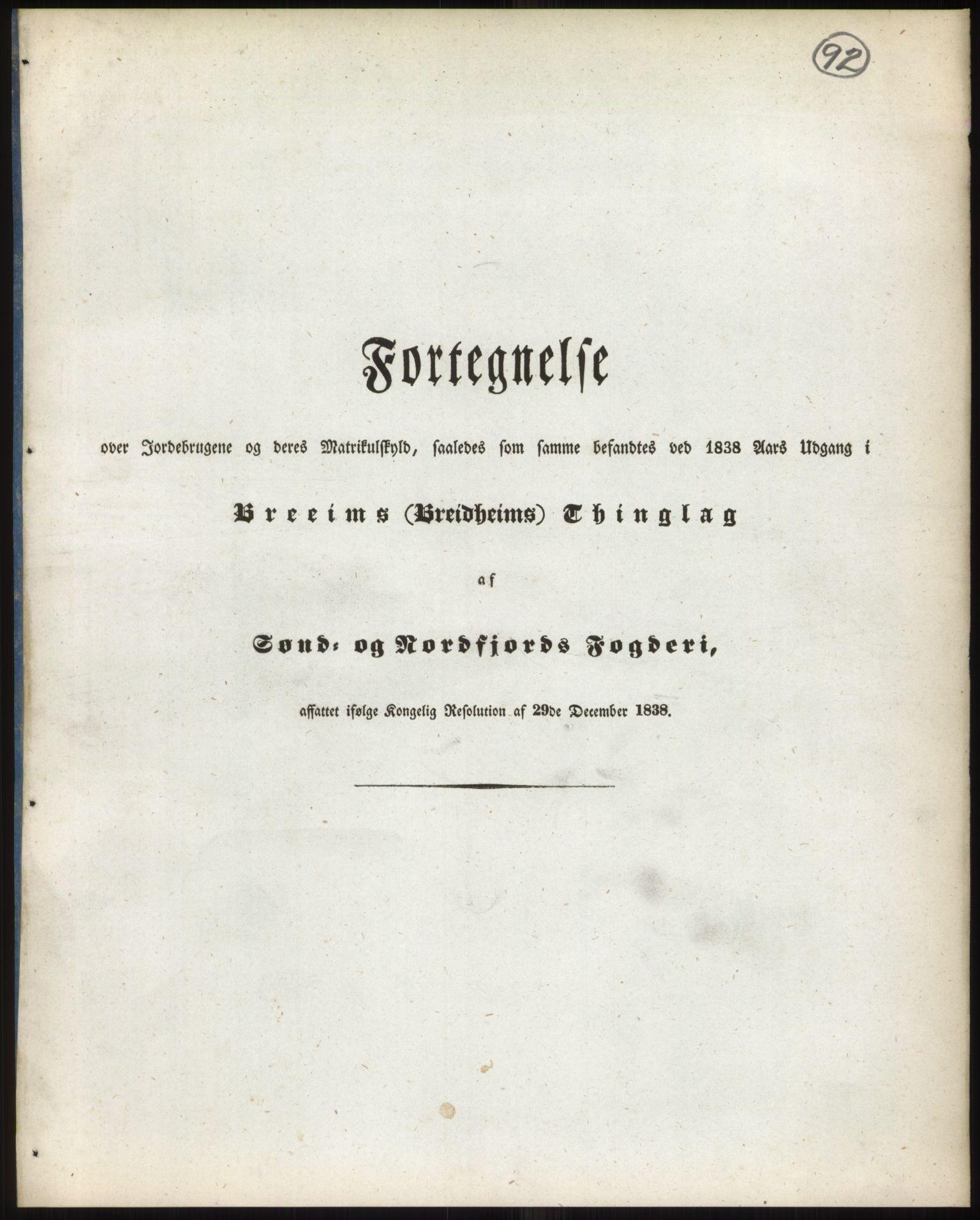 RA, 1838-matrikkelen (publikasjon)*, 1838, s. 92