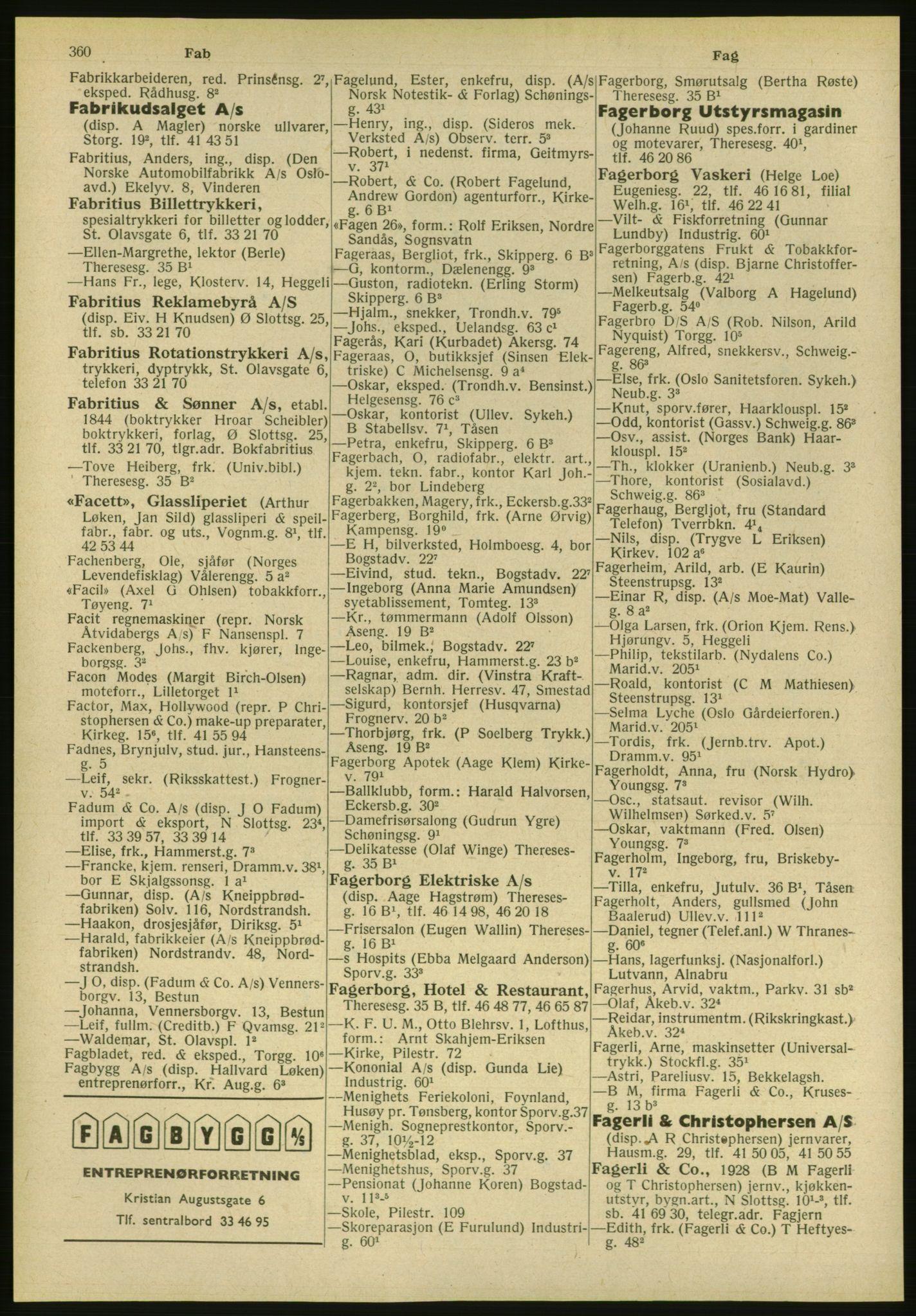 PUBL, Kristiania/Oslo adressebok, 1951, s. 360