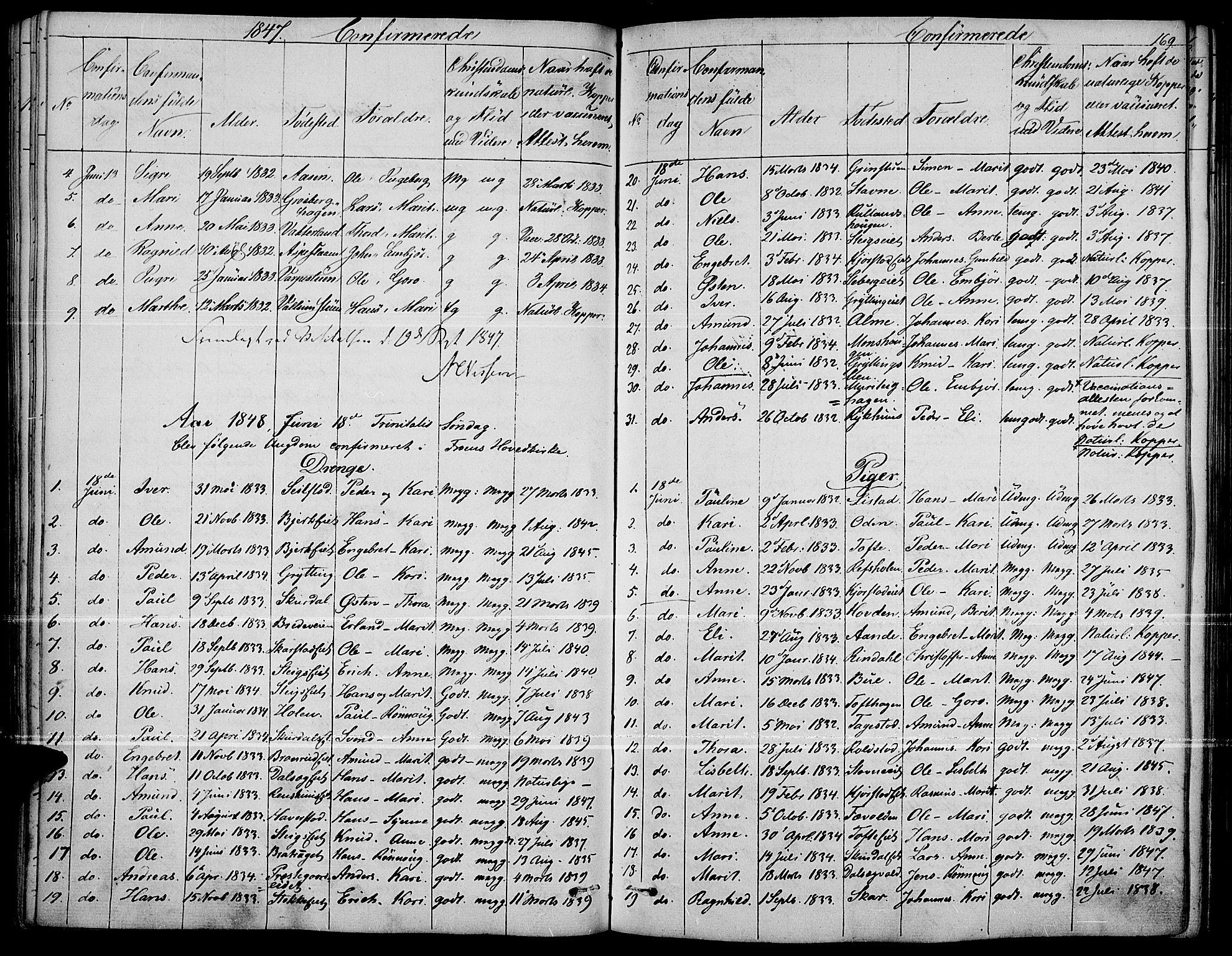 SAH, Fron prestekontor, H/Ha/Haa/L0004: Ministerialbok nr. 4, 1839-1848, s. 169