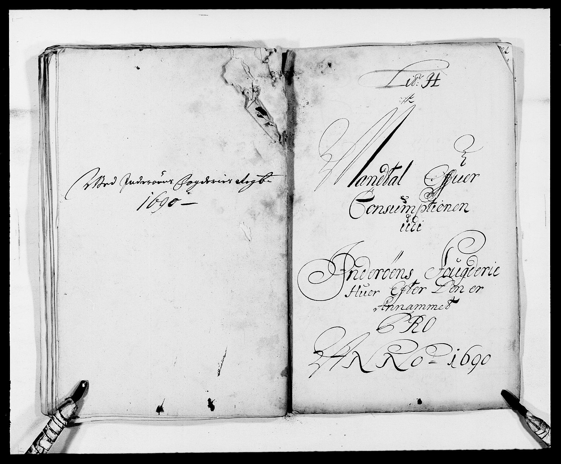 RA, Rentekammeret inntil 1814, Reviderte regnskaper, Fogderegnskap, R63/L4307: Fogderegnskap Inderøy, 1690-1691, s. 113