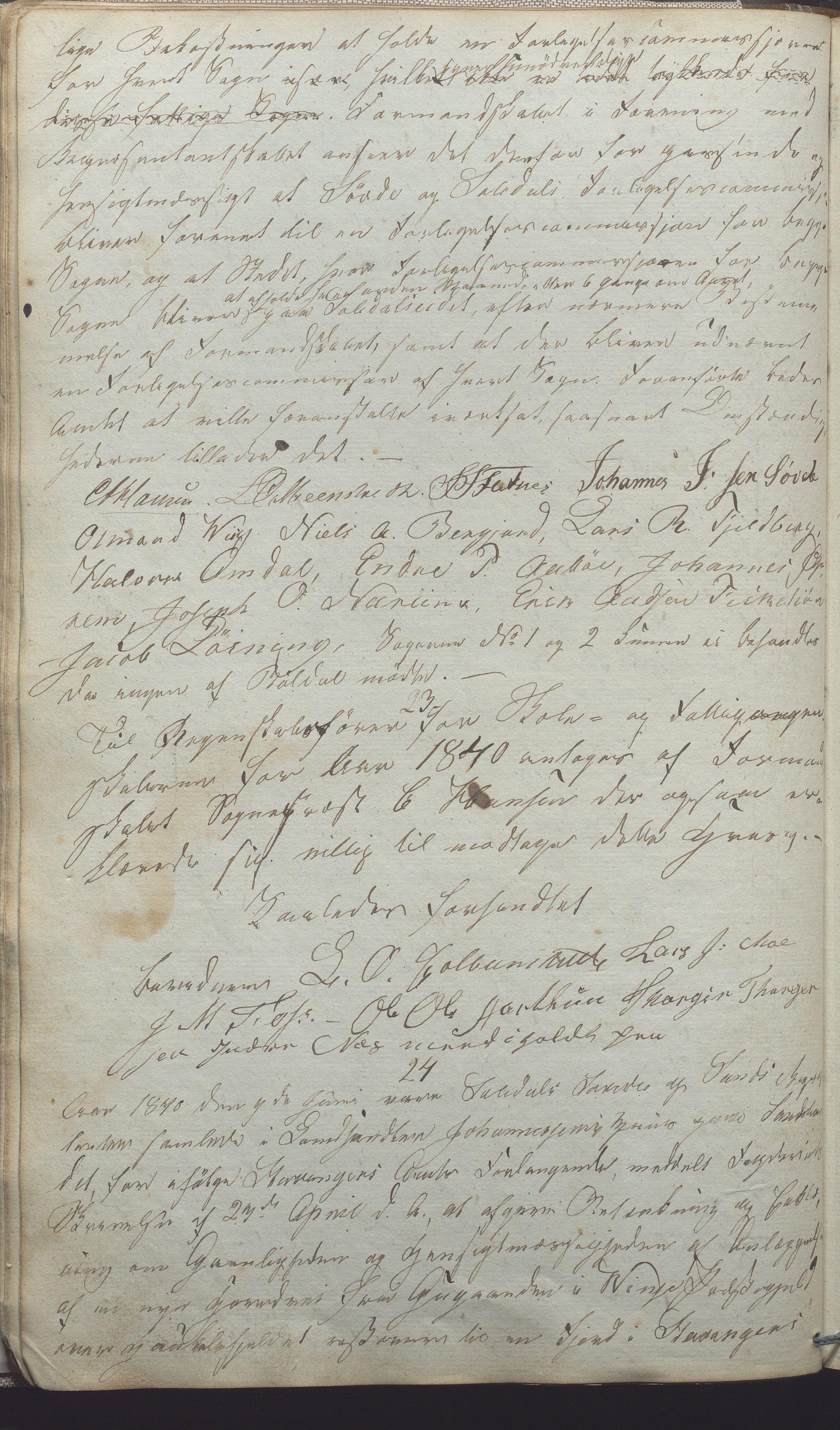 IKAR, Suldal kommune - Formannskapet/Rådmannen, A/Aa/L0001: Møtebok, 1837-1876, s. 37b