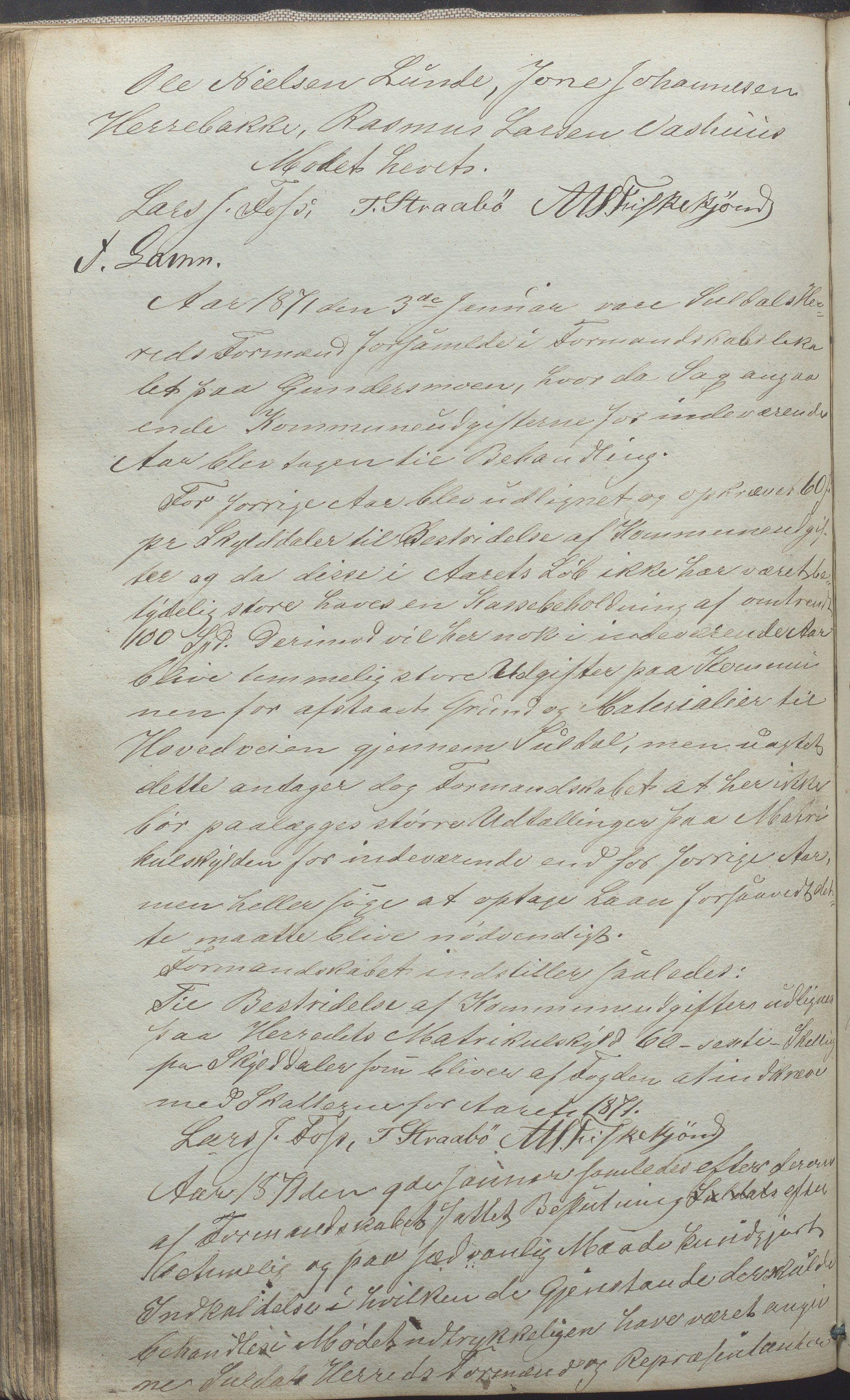 IKAR, Suldal kommune - Formannskapet/Rådmannen, A/Aa/L0001: Møtebok, 1837-1876, s. 184b