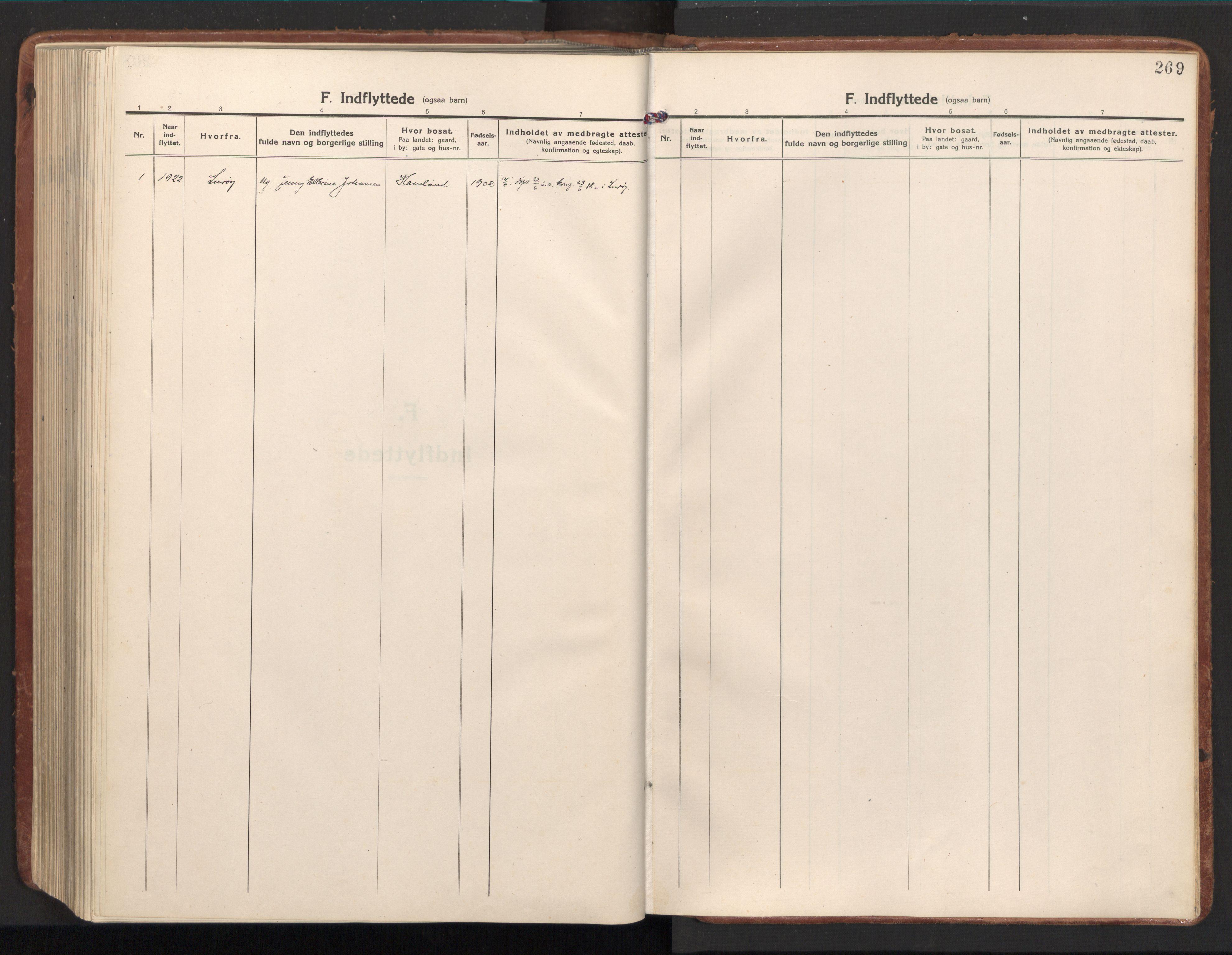 SAT, Ministerialprotokoller, klokkerbøker og fødselsregistre - Nord-Trøndelag, 784/L0678: Ministerialbok nr. 784A13, 1921-1938, s. 269