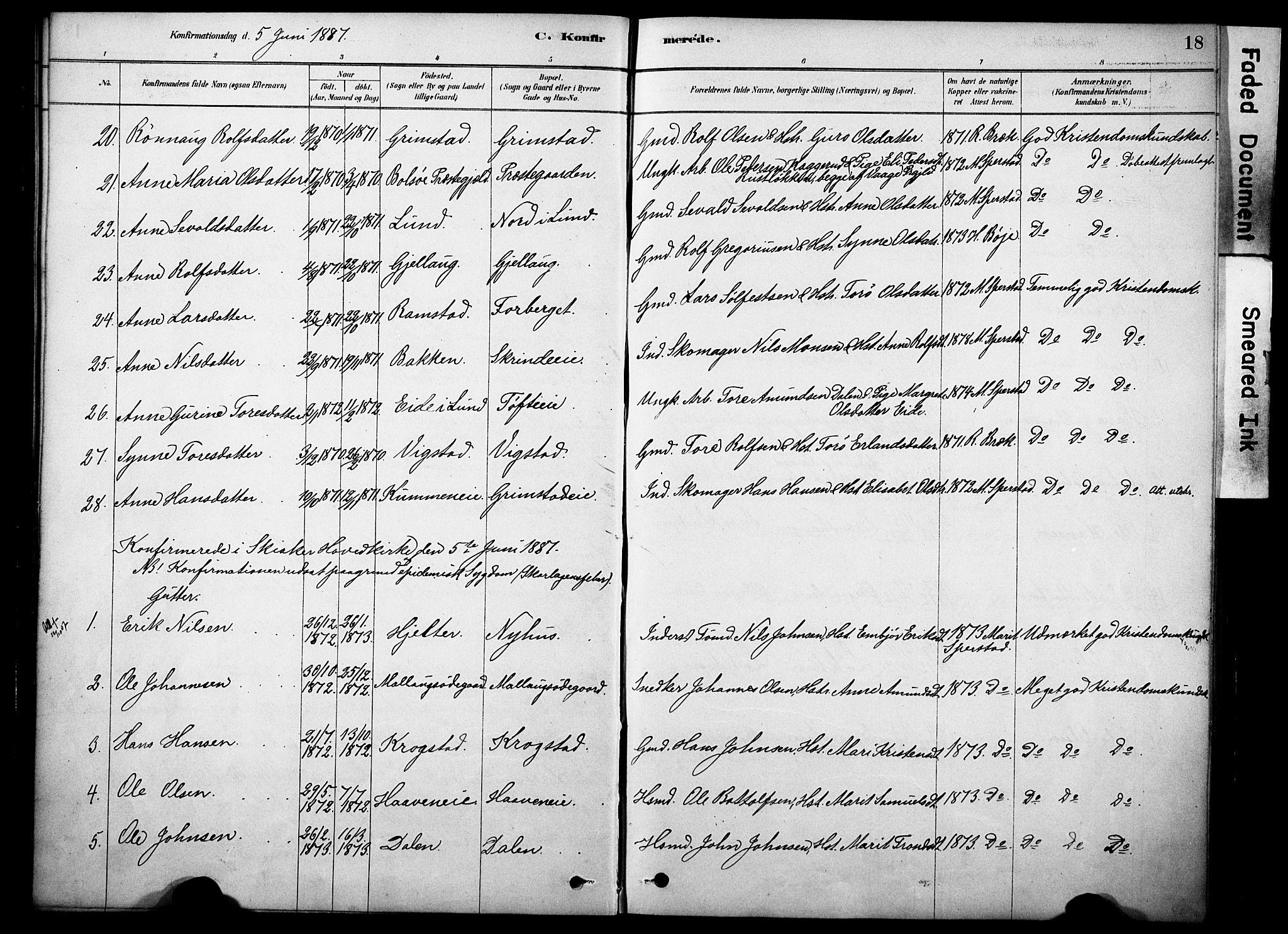 SAH, Skjåk prestekontor, Ministerialbok nr. 2, 1878-1907, s. 18