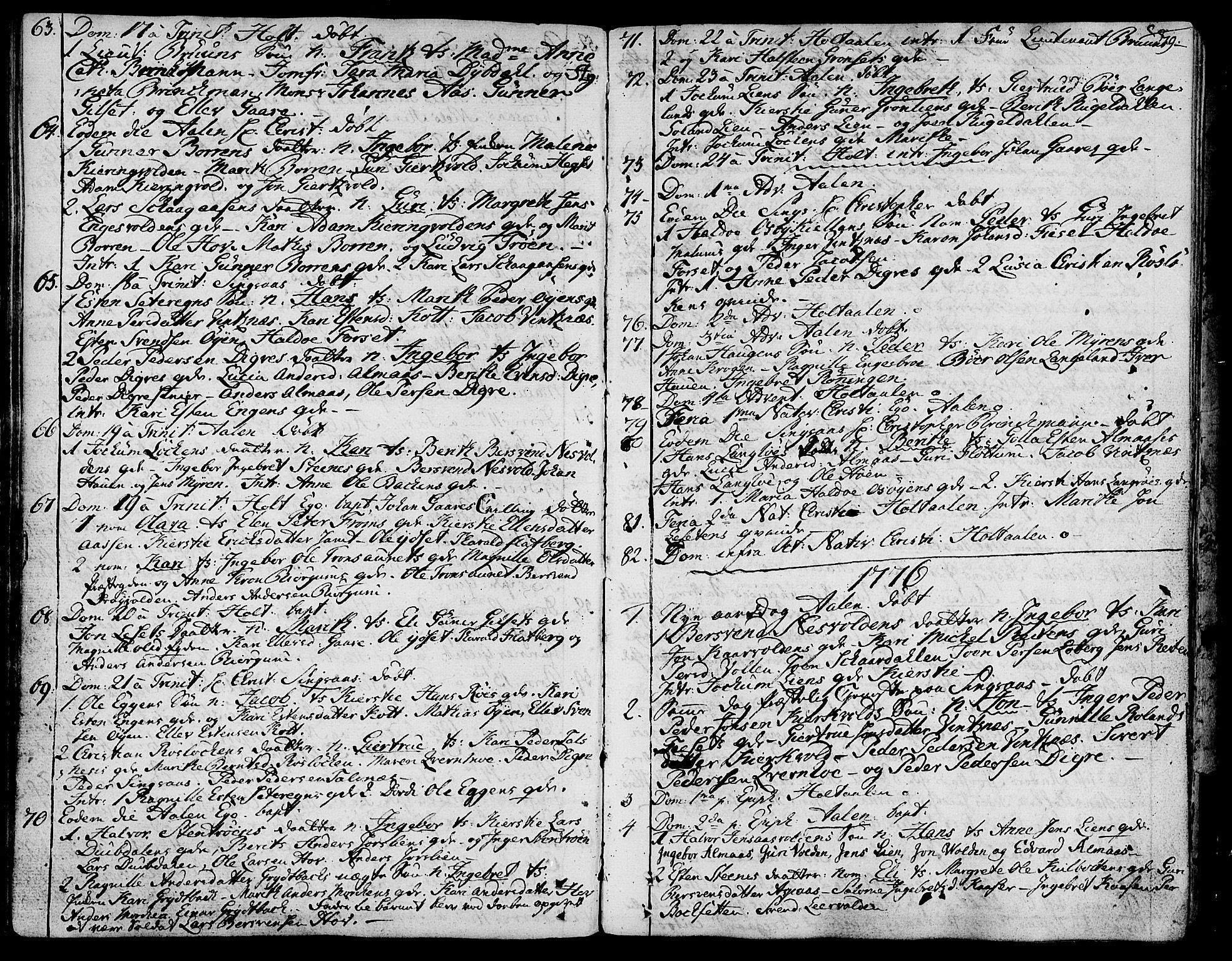 SAT, Ministerialprotokoller, klokkerbøker og fødselsregistre - Sør-Trøndelag, 685/L0952: Ministerialbok nr. 685A01, 1745-1804, s. 79