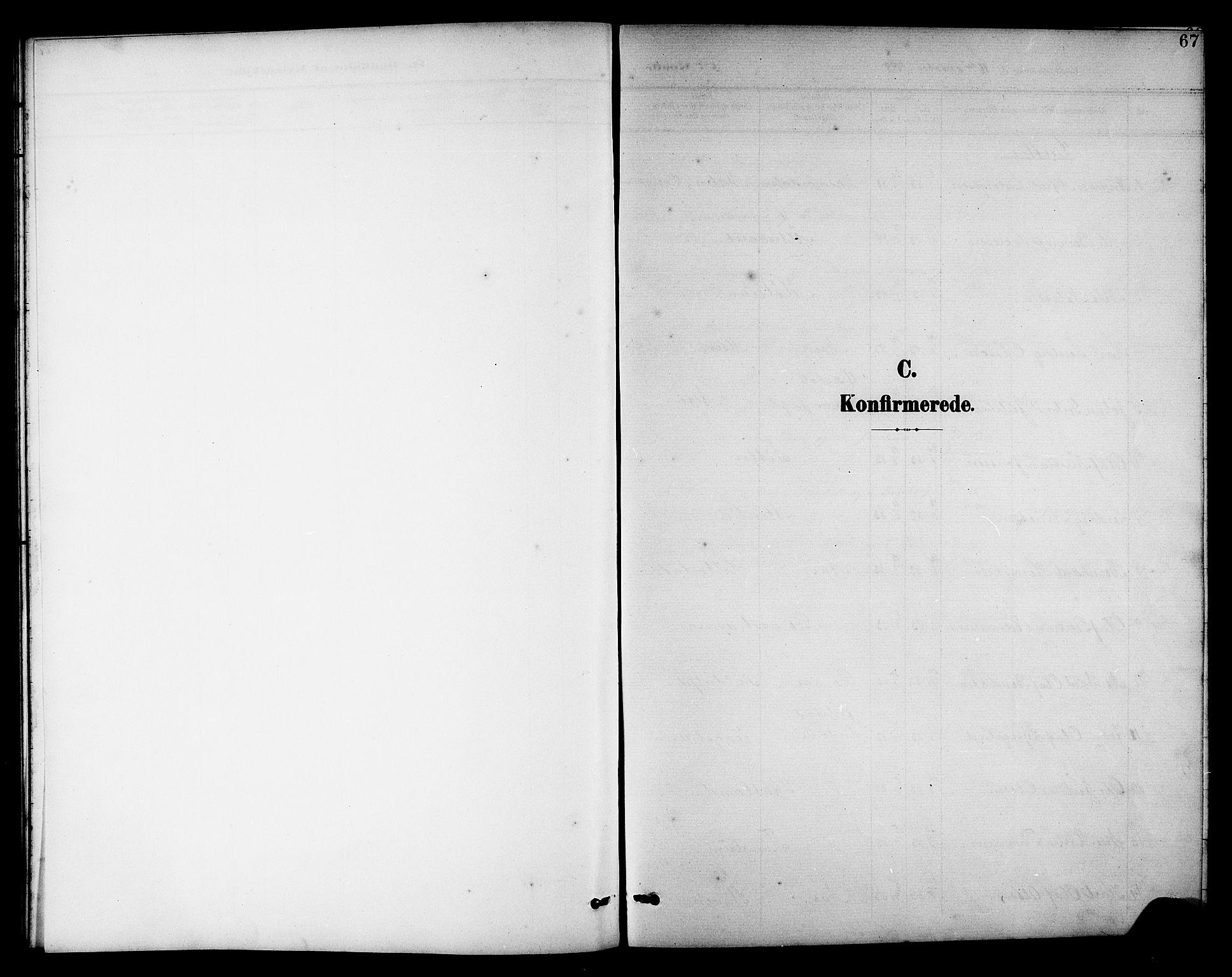 SAT, Ministerialprotokoller, klokkerbøker og fødselsregistre - Nord-Trøndelag, 742/L0412: Klokkerbok nr. 742C03, 1898-1910, s. 67
