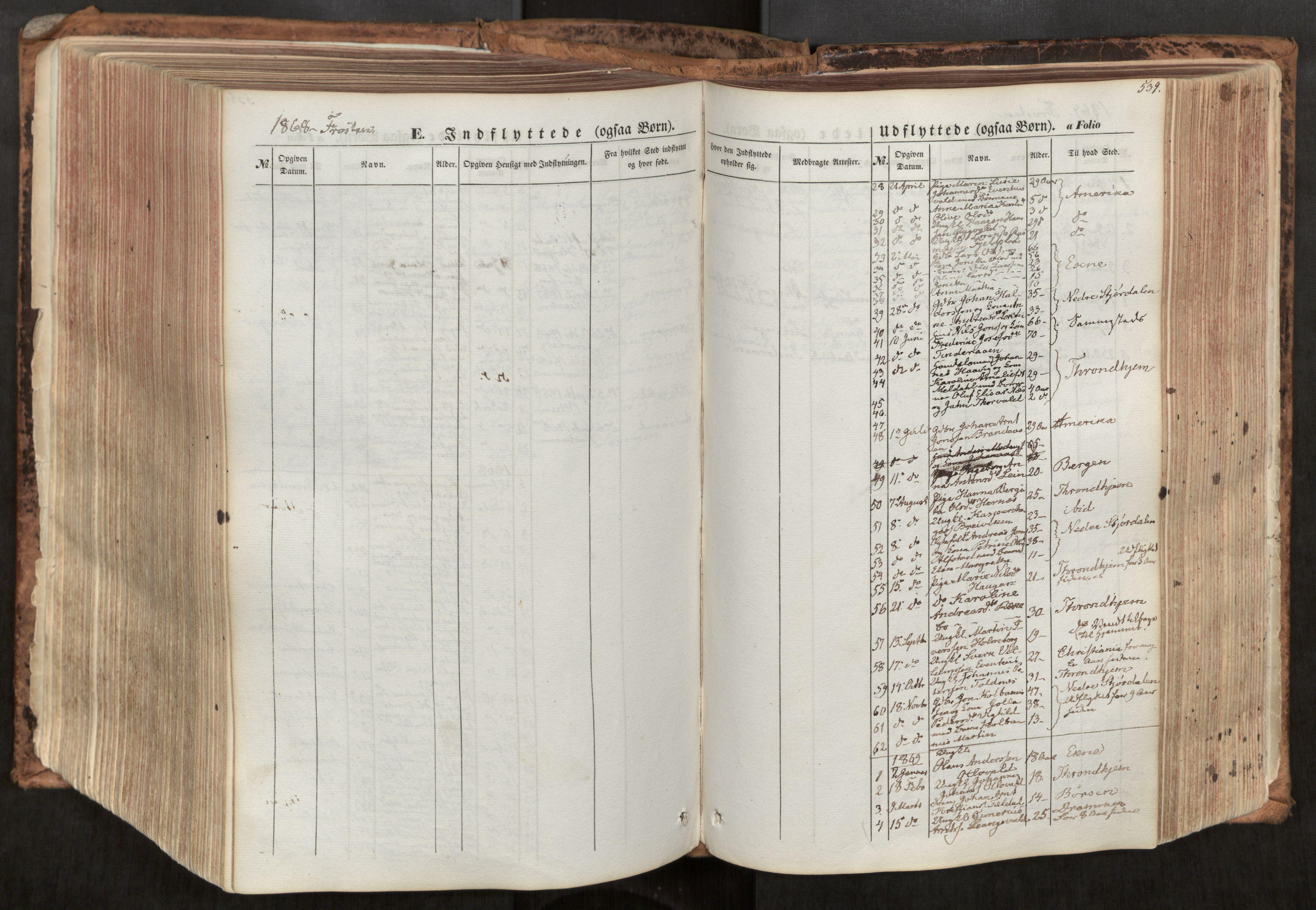 SAT, Ministerialprotokoller, klokkerbøker og fødselsregistre - Nord-Trøndelag, 713/L0116: Ministerialbok nr. 713A07, 1850-1877, s. 539