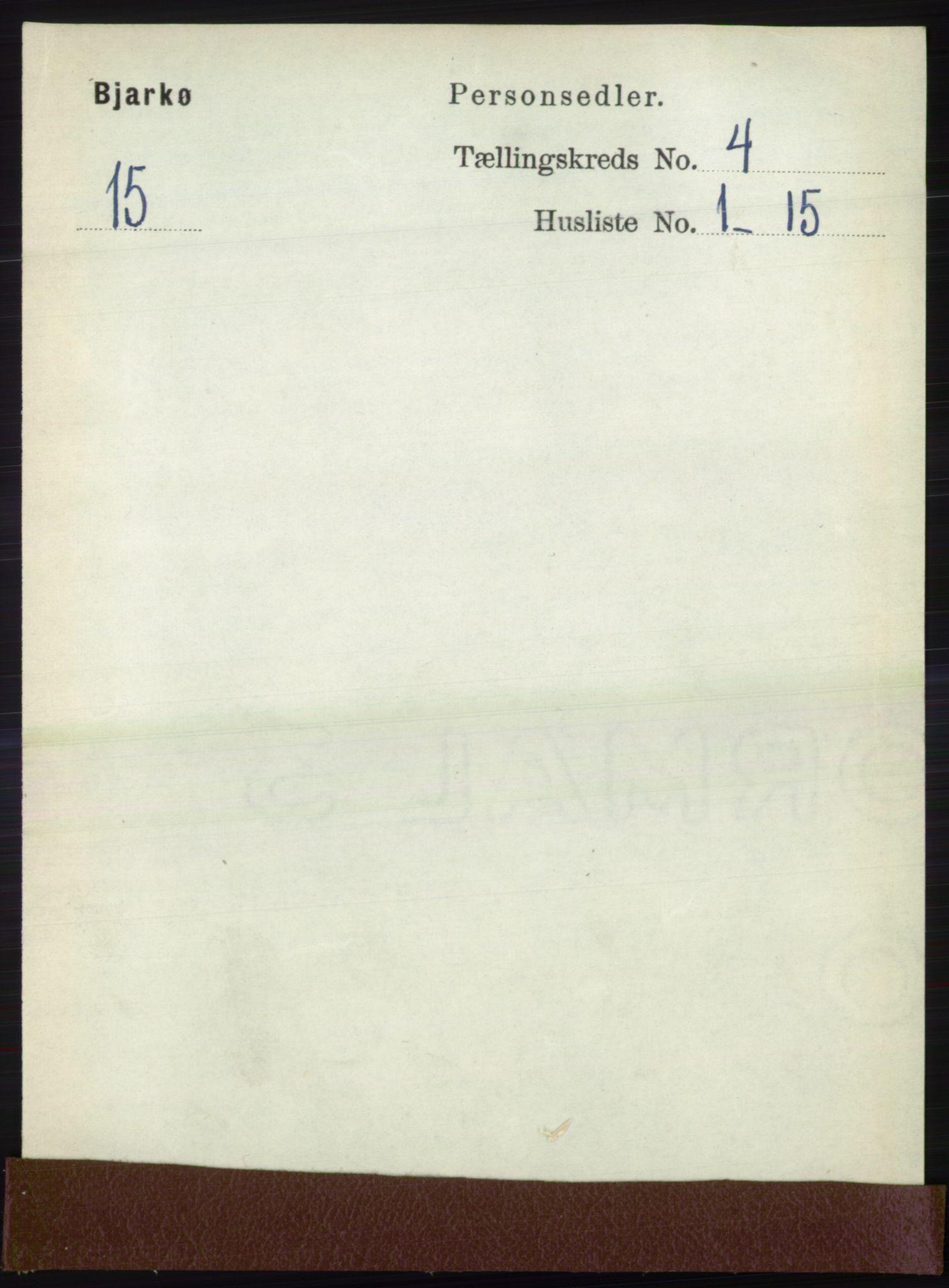 RA, Folketelling 1891 for 1915 Bjarkøy herred, 1891, s. 1908