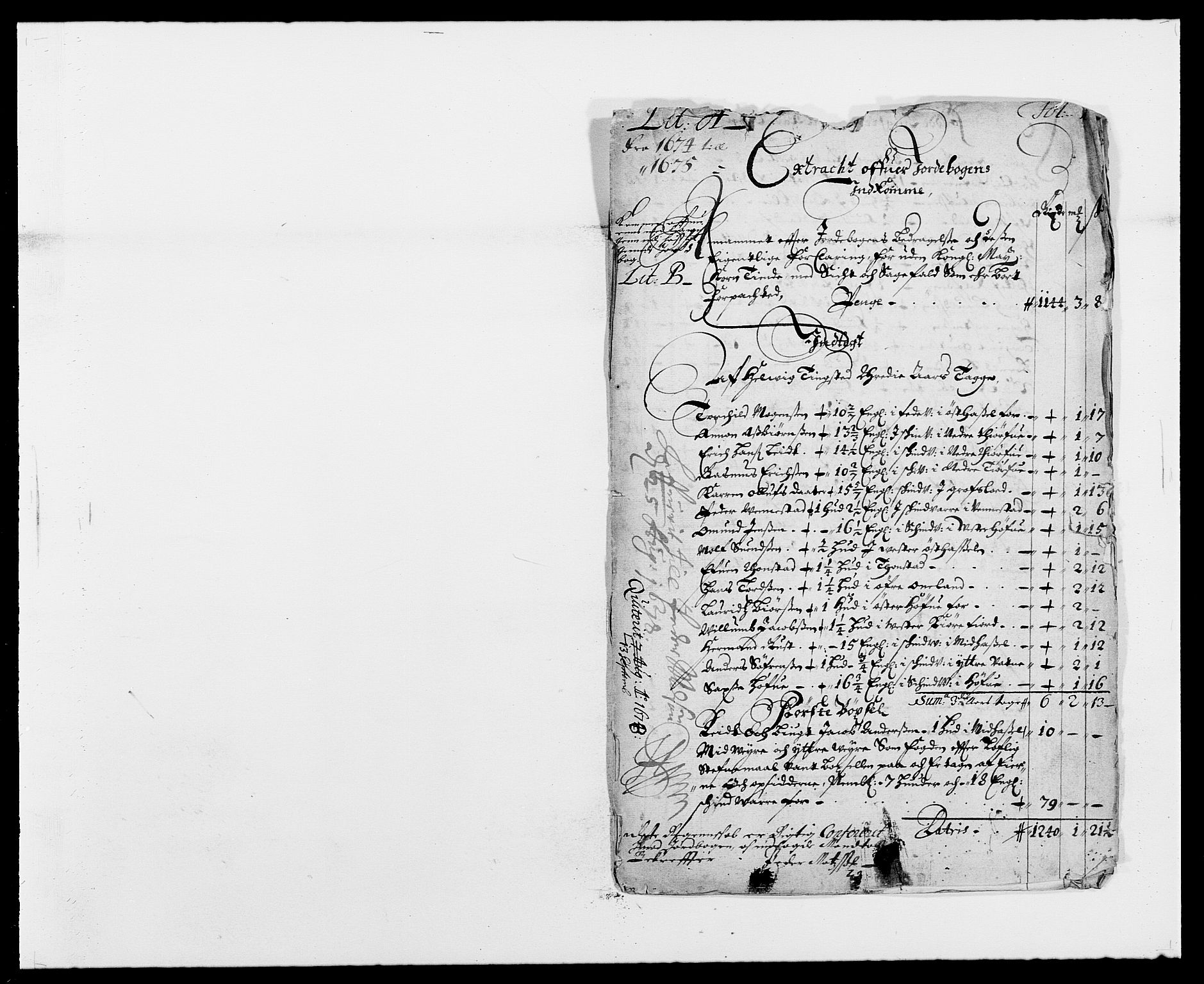 RA, Rentekammeret inntil 1814, Reviderte regnskaper, Fogderegnskap, R41/L2528: Fogderegnskap Lista, 1673-1674, s. 188