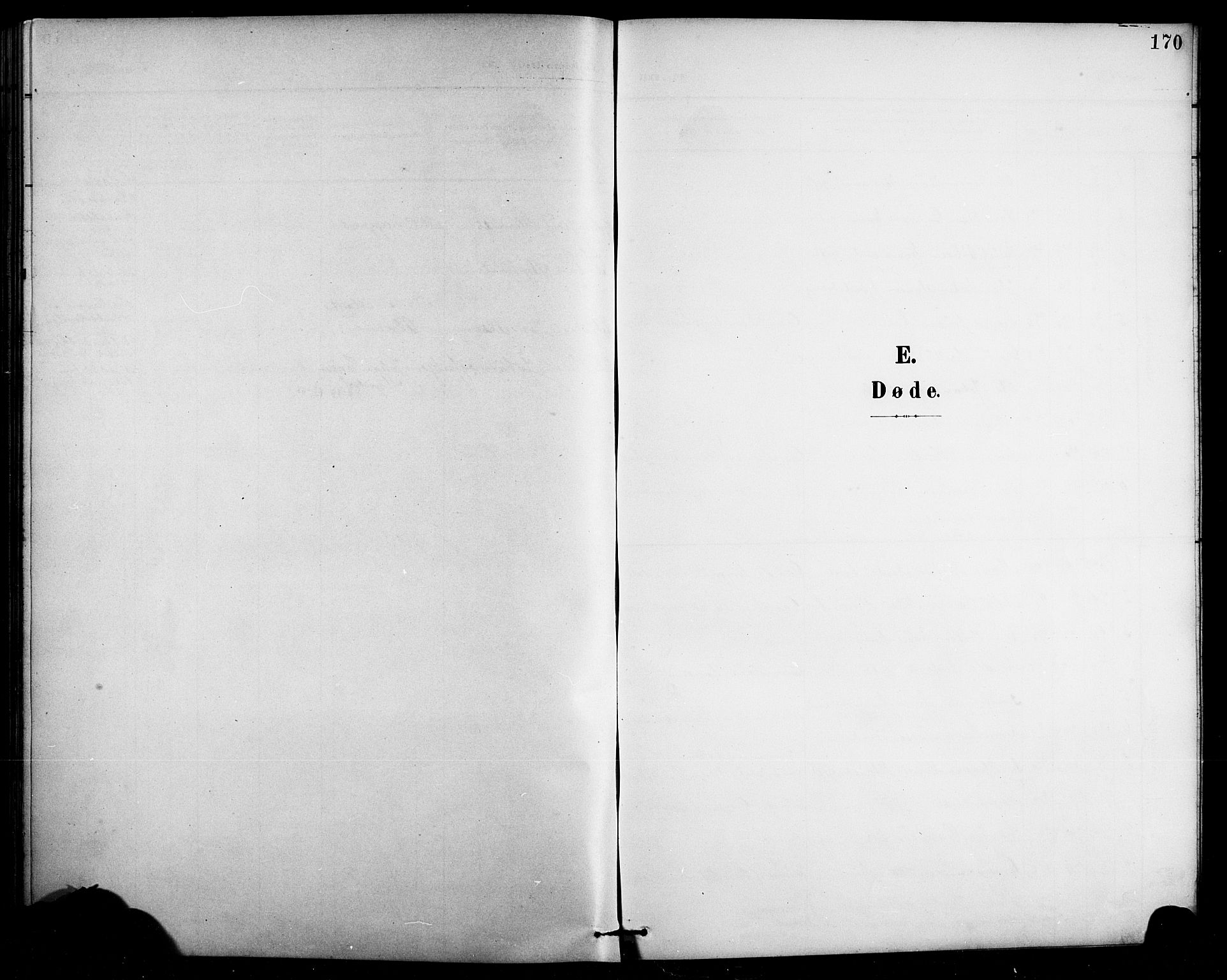 SAB, Arna Sokneprestembete, H/Ha/Hab: Klokkerbok nr. A 4, 1898-1910, s. 170