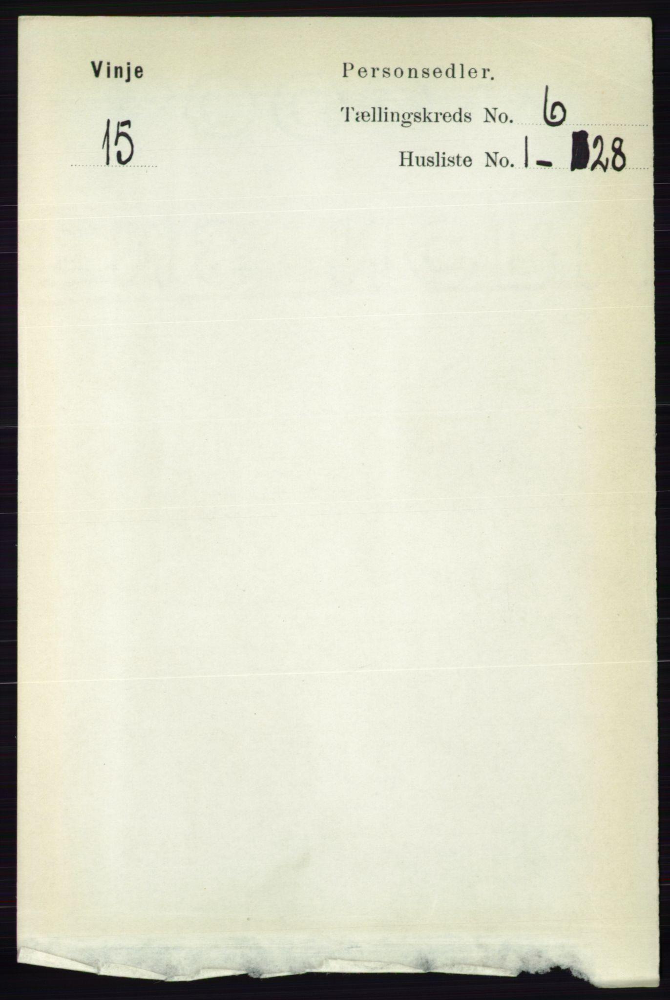 RA, Folketelling 1891 for 0834 Vinje herred, 1891, s. 1410