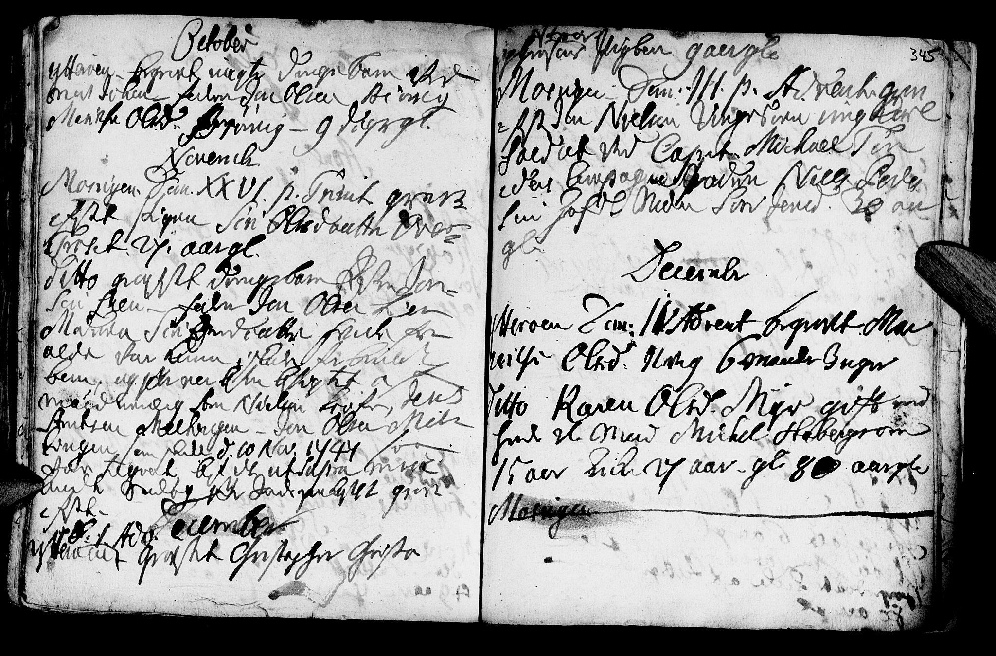 SAT, Ministerialprotokoller, klokkerbøker og fødselsregistre - Nord-Trøndelag, 722/L0215: Ministerialbok nr. 722A02, 1718-1755, s. 345