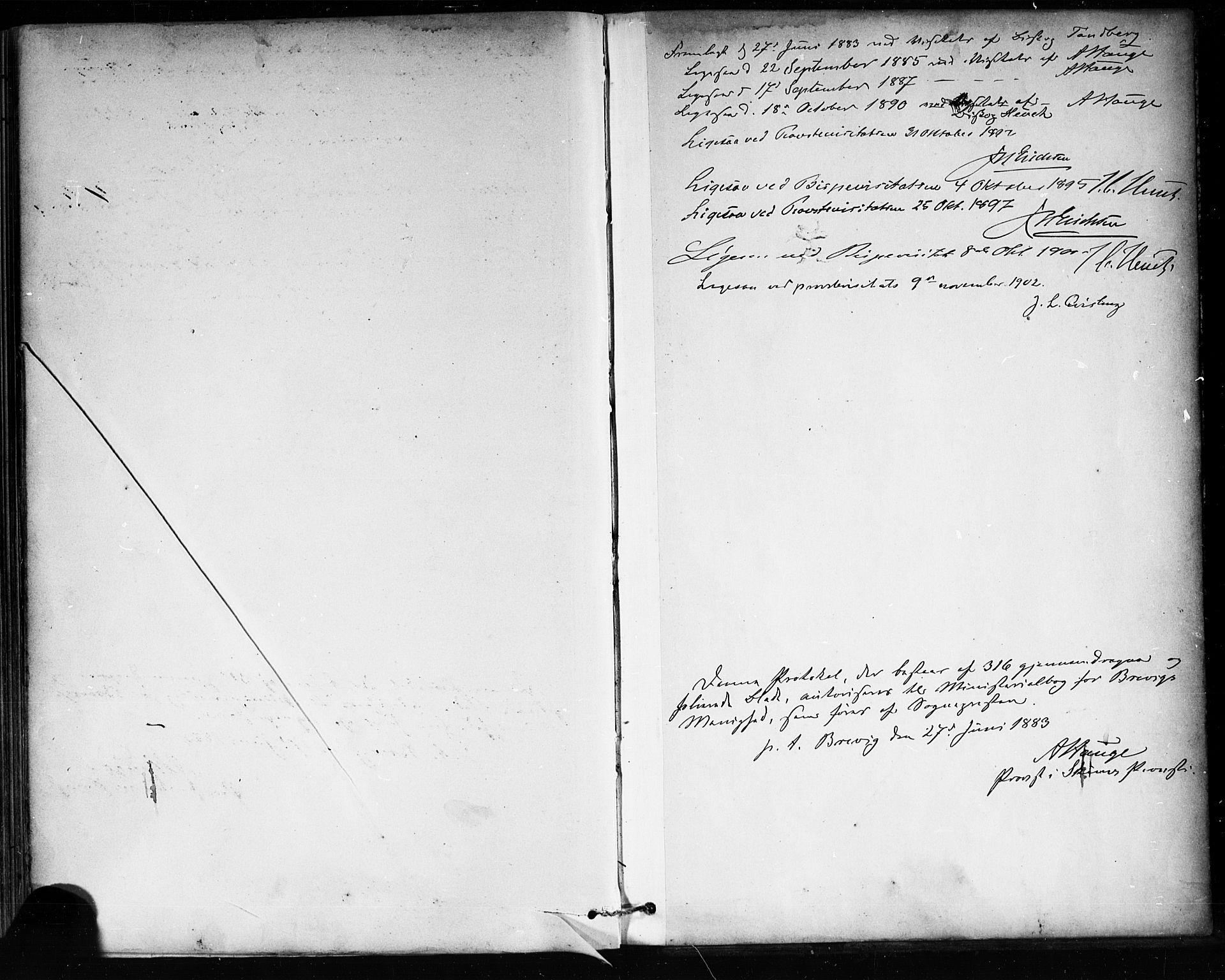 SAKO, Brevik kirkebøker, F/Fa/L0007: Ministerialbok nr. 7, 1882-1900