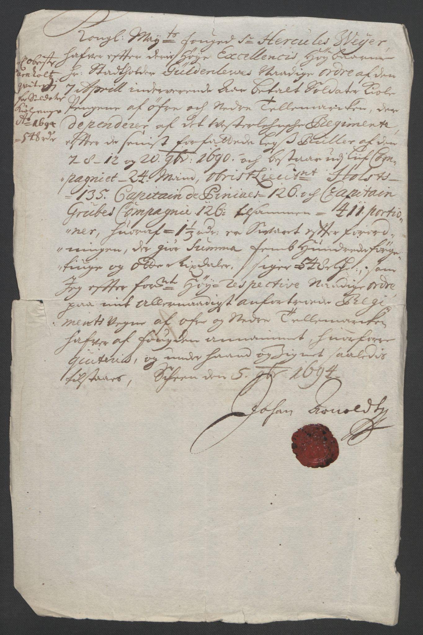 RA, Rentekammeret inntil 1814, Reviderte regnskaper, Fogderegnskap, R36/L2092: Fogderegnskap Øvre og Nedre Telemark og Bamble, 1694, s. 139