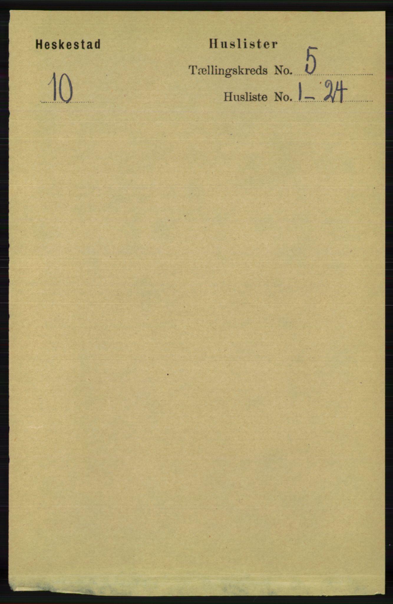 RA, Folketelling 1891 for 1113 Heskestad herred, 1891, s. 845