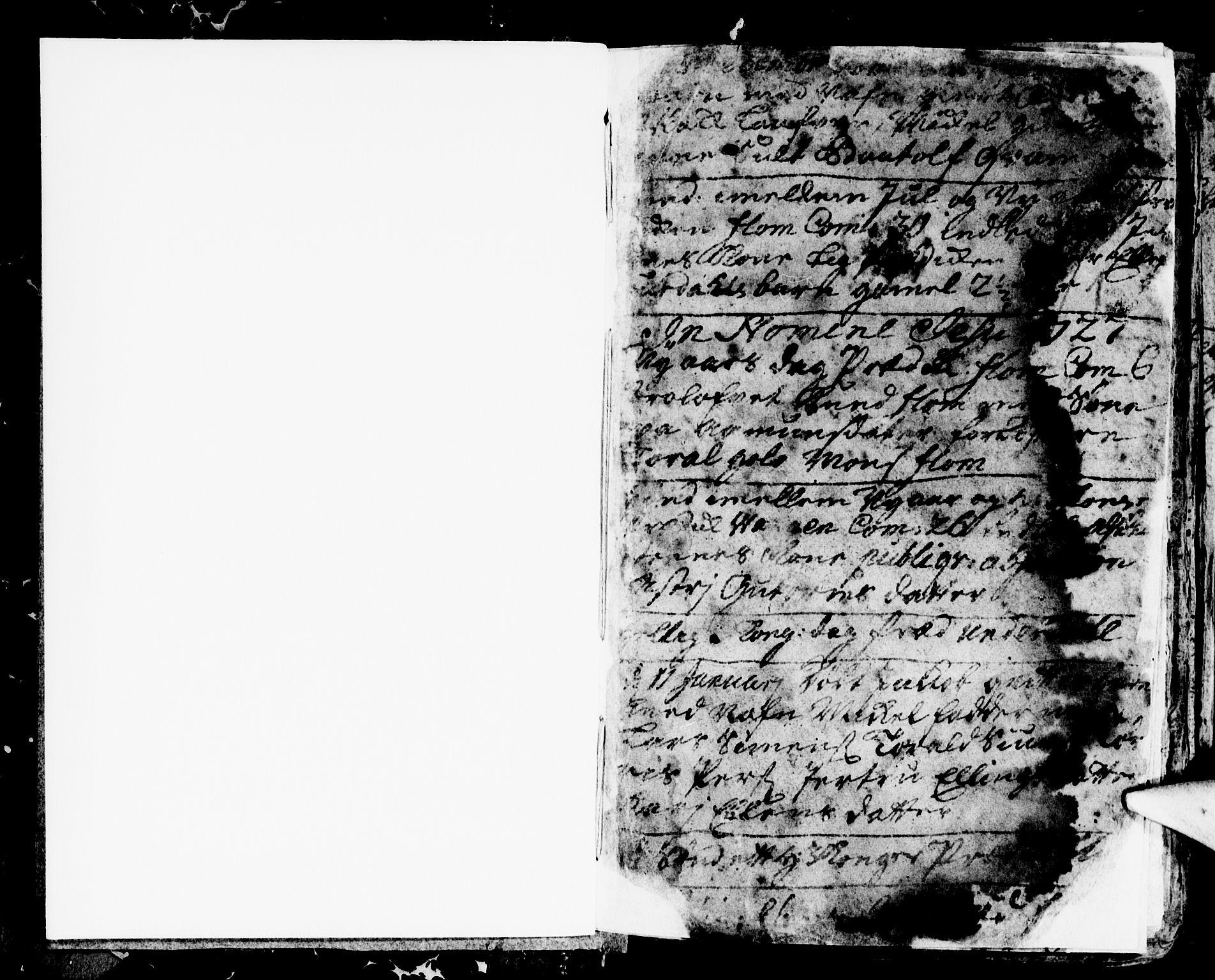 SAB, Aurland Sokneprestembete*, Ministerialbok nr. A 2, 1726-1734, s. 1