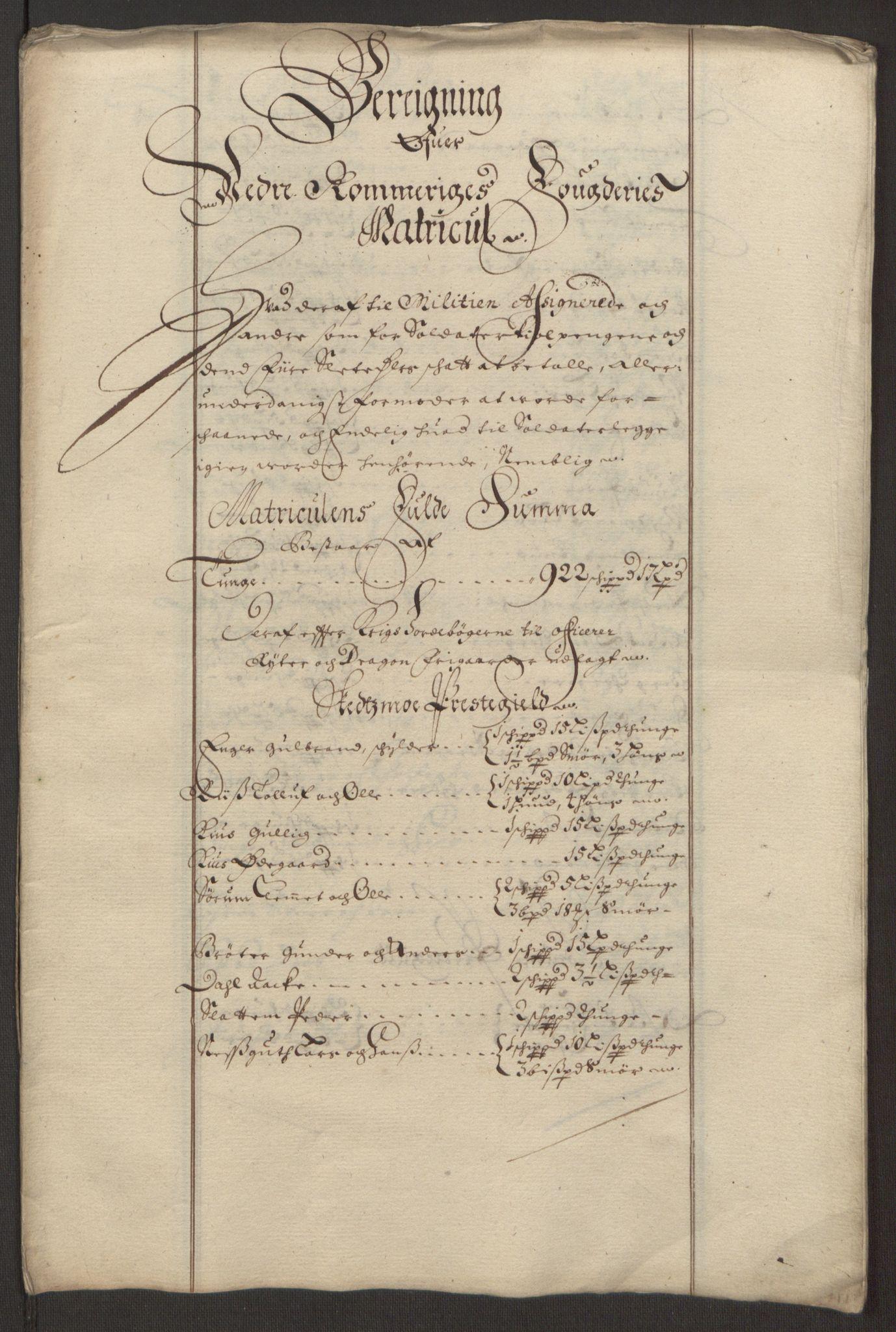 RA, Rentekammeret inntil 1814, Reviderte regnskaper, Fogderegnskap, R11/L0575: Fogderegnskap Nedre Romerike, 1691, s. 270