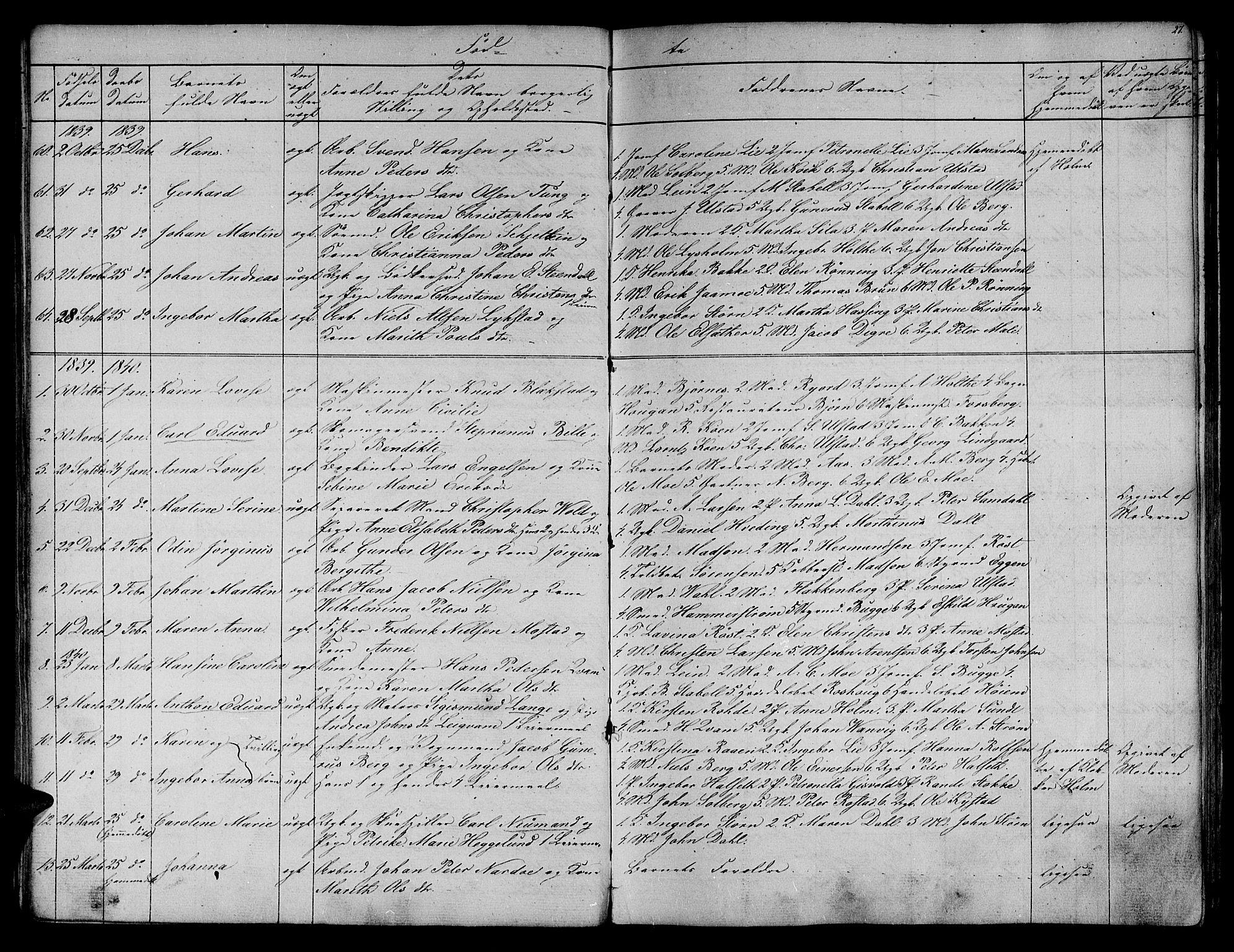 SAT, Ministerialprotokoller, klokkerbøker og fødselsregistre - Sør-Trøndelag, 604/L0182: Ministerialbok nr. 604A03, 1818-1850, s. 27