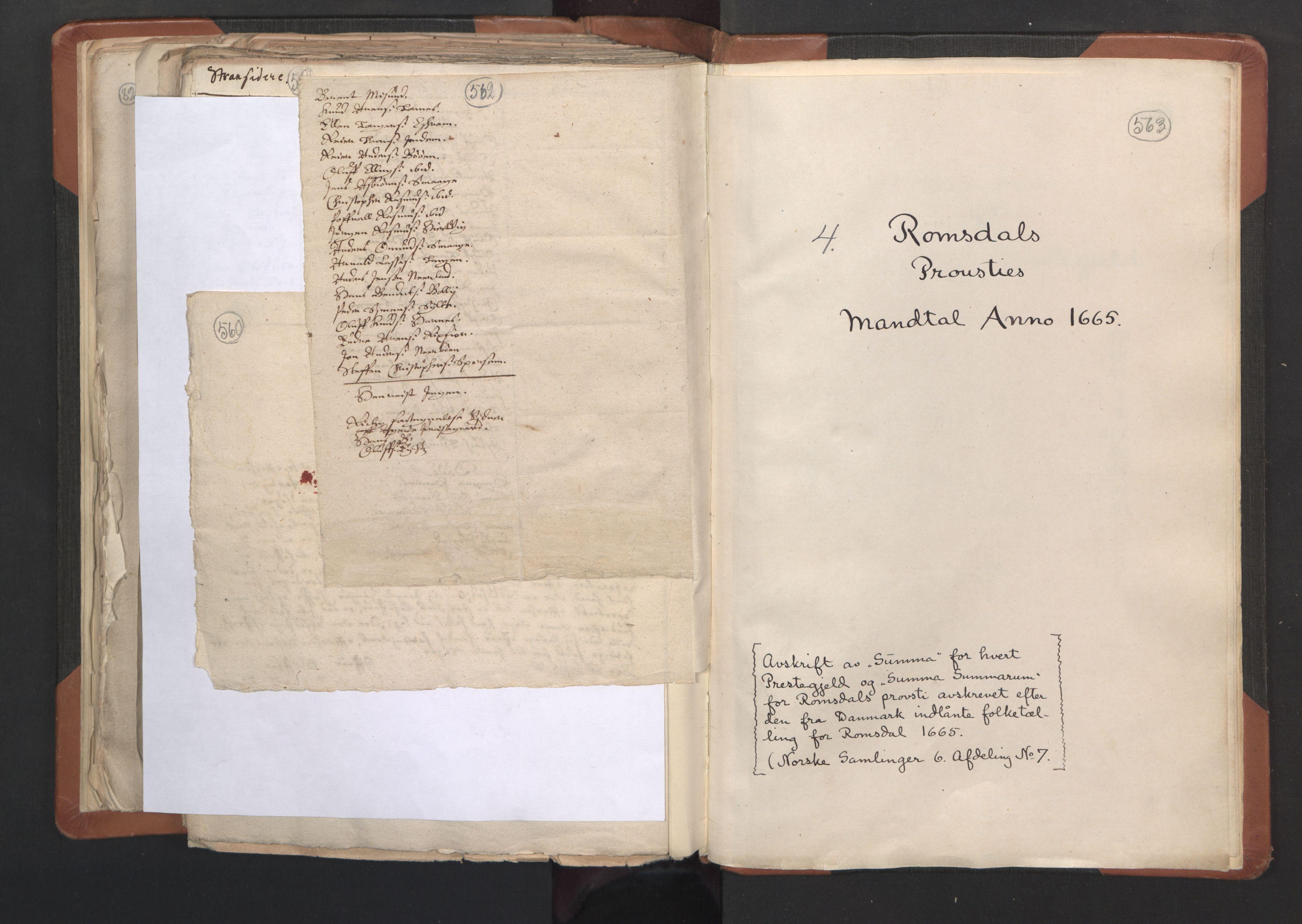 RA, Sogneprestenes manntall 1664-1666, nr. 27: Romsdal prosti, 1664-1666, s. 562-563